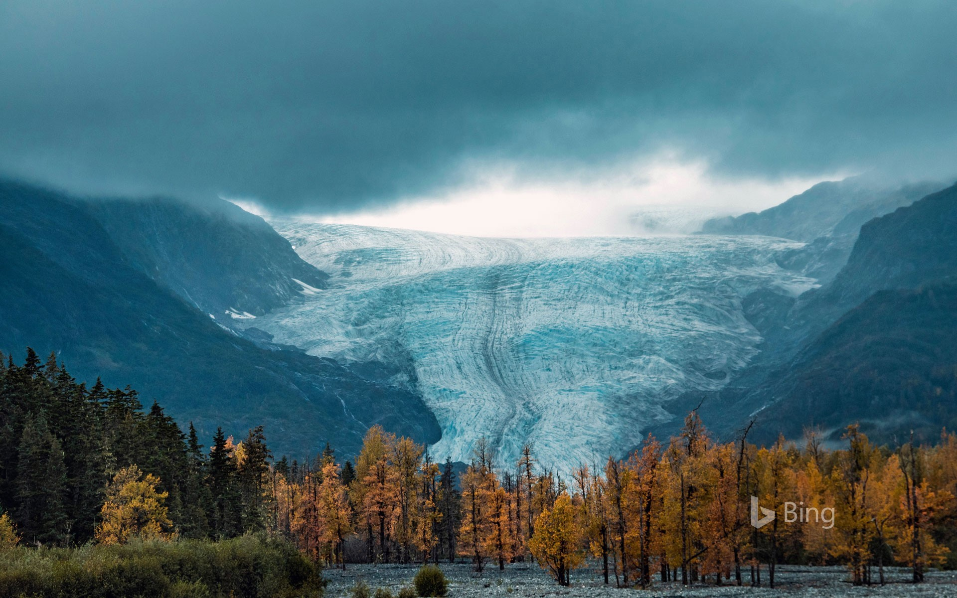 Exit Glacier at Kenai Fjords National Park in Alaska
