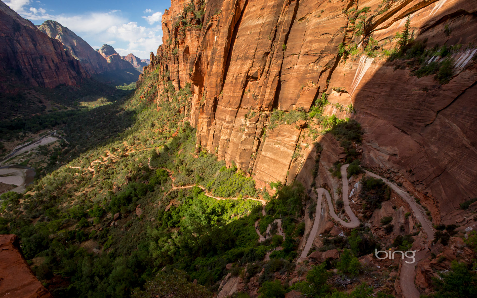 Angels Landing Trail in Zion National Park, Utah