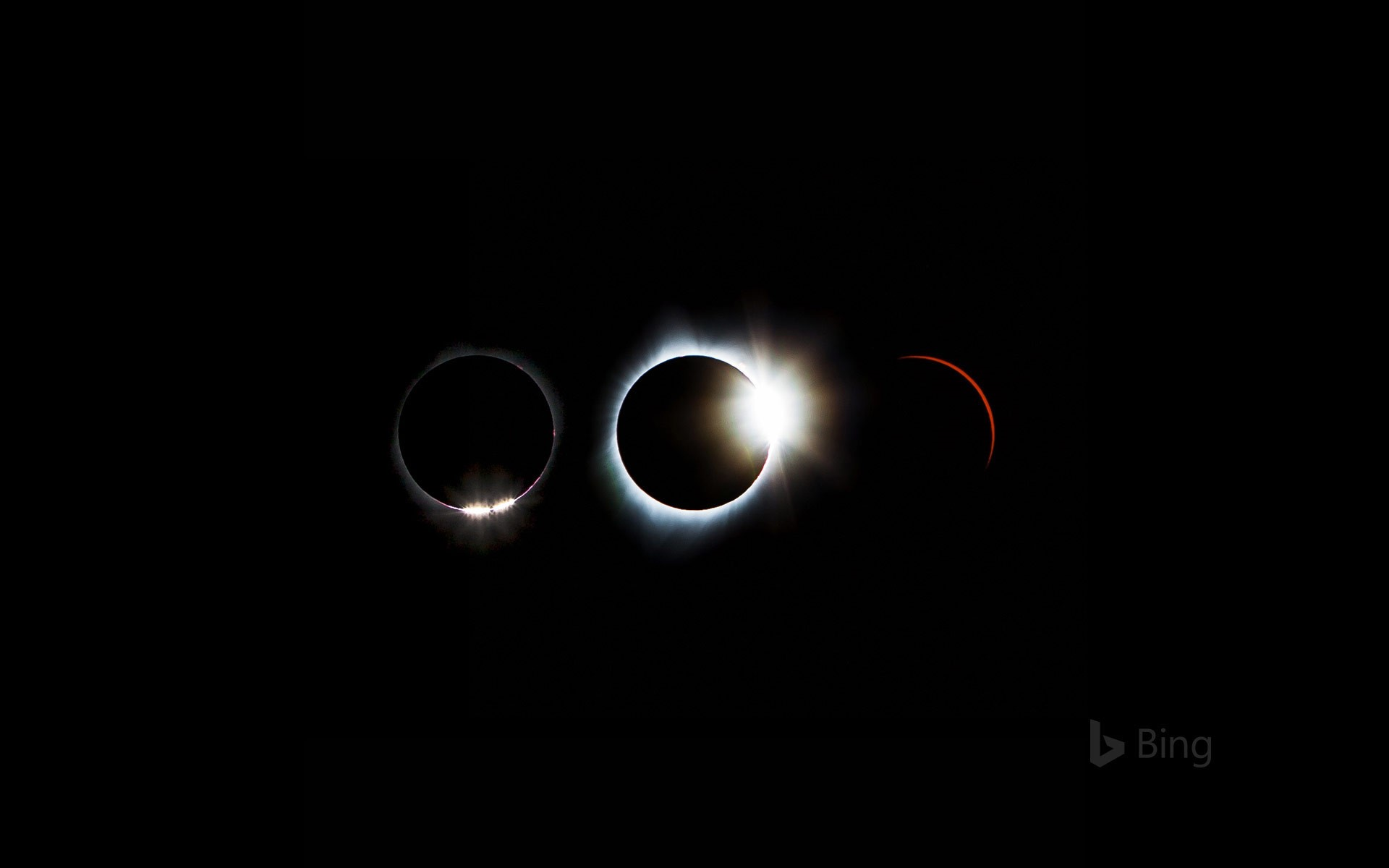 Solar eclipse sequence from August 21, 2017