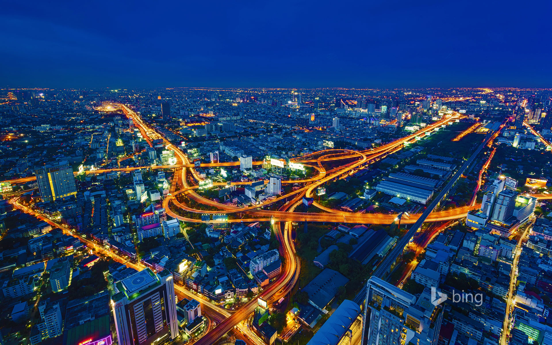 Time lapse of the expressways in Bangkok, Thailand