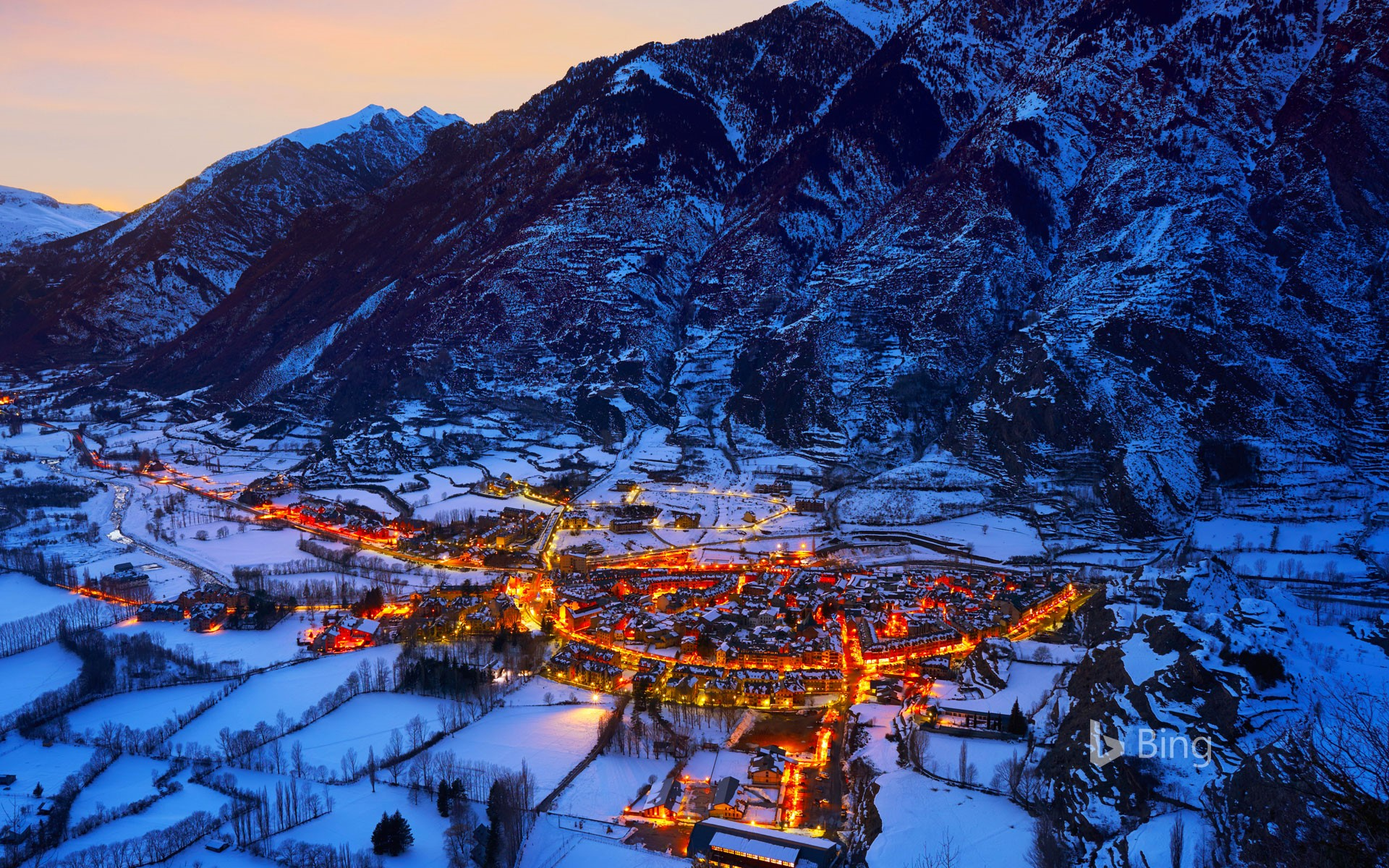 The village of Benasque, Huesca, Spain