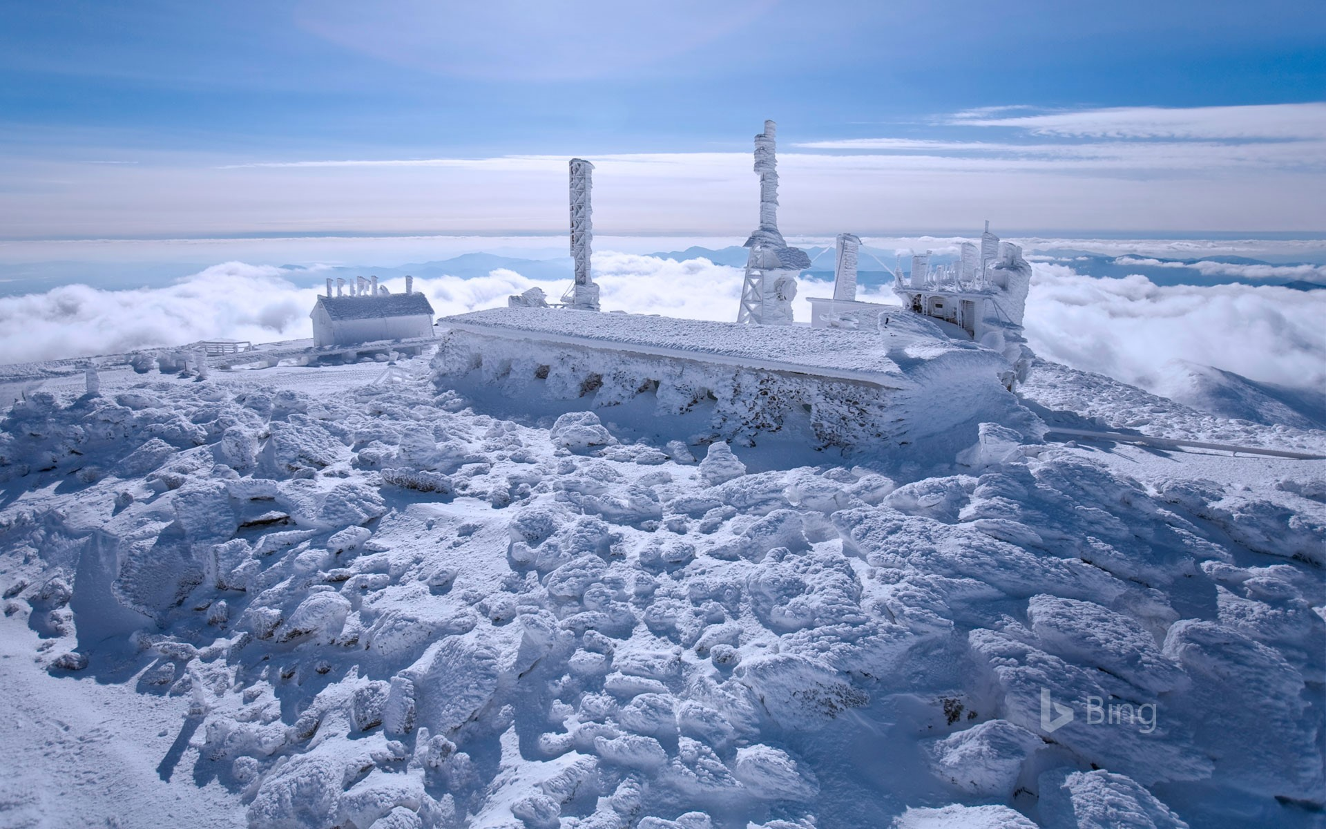 The Mount Washington Observatory in New Hampshire