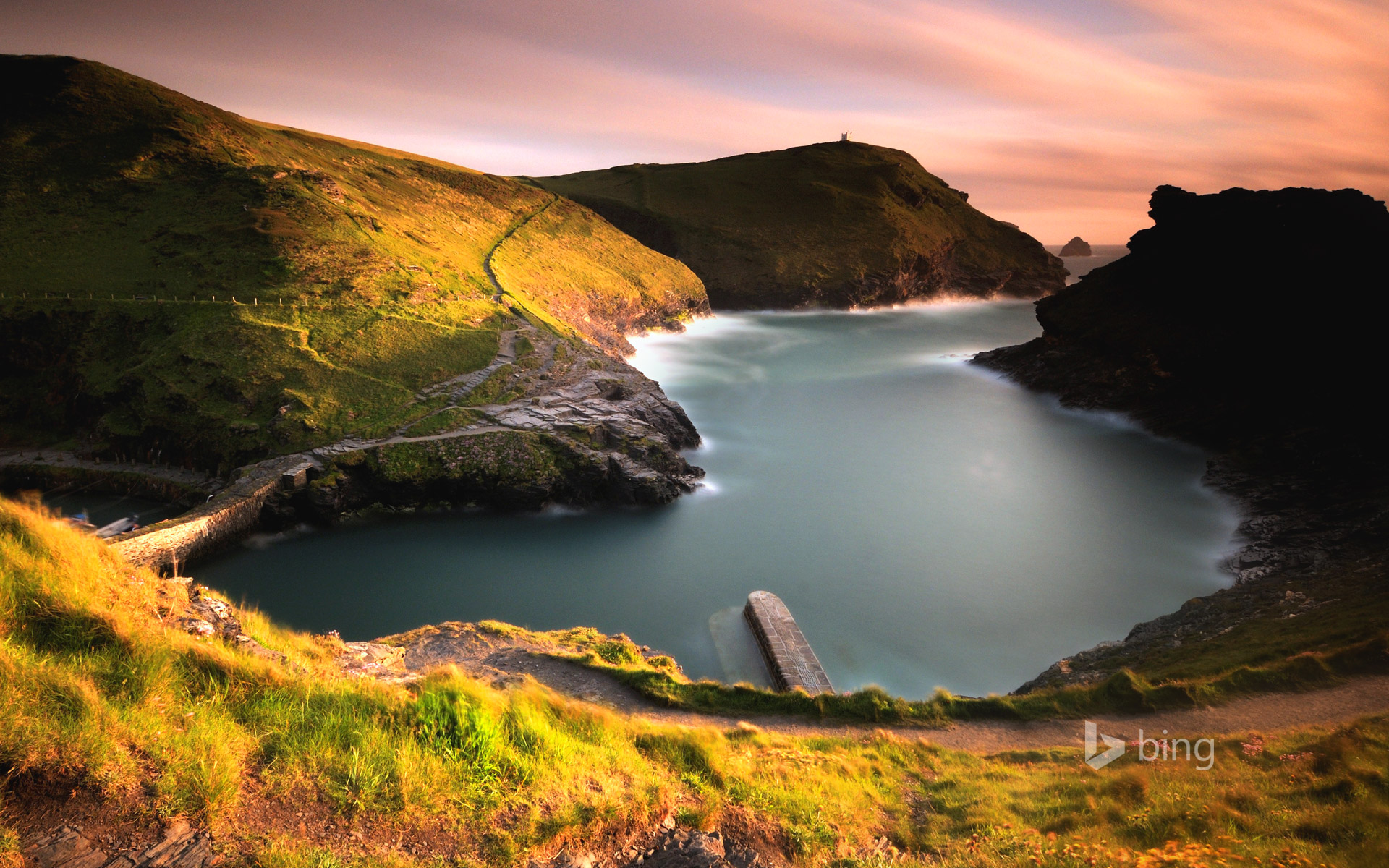 Boscastle harbour on the Cornish coast of England