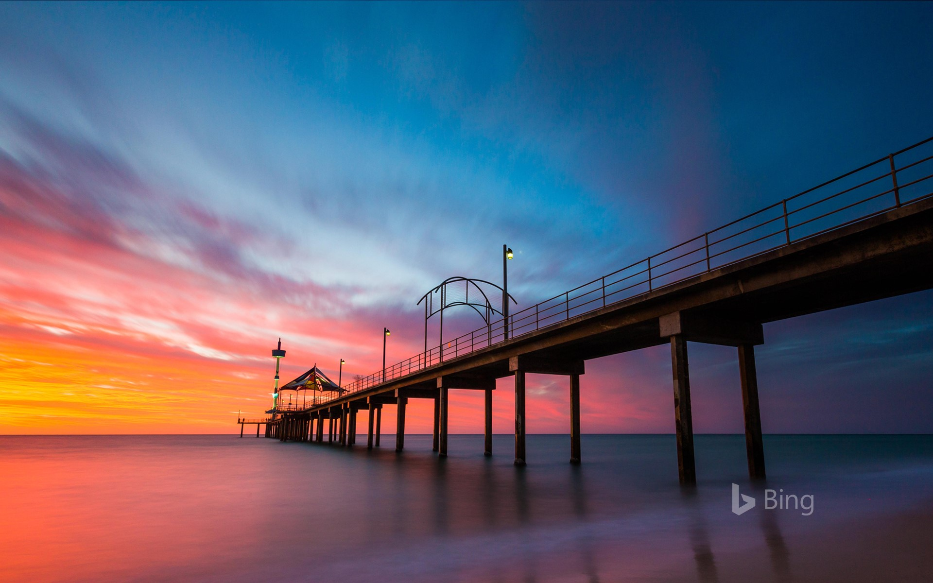 Brighton Jetty in Brighton, Adelaide, Australia