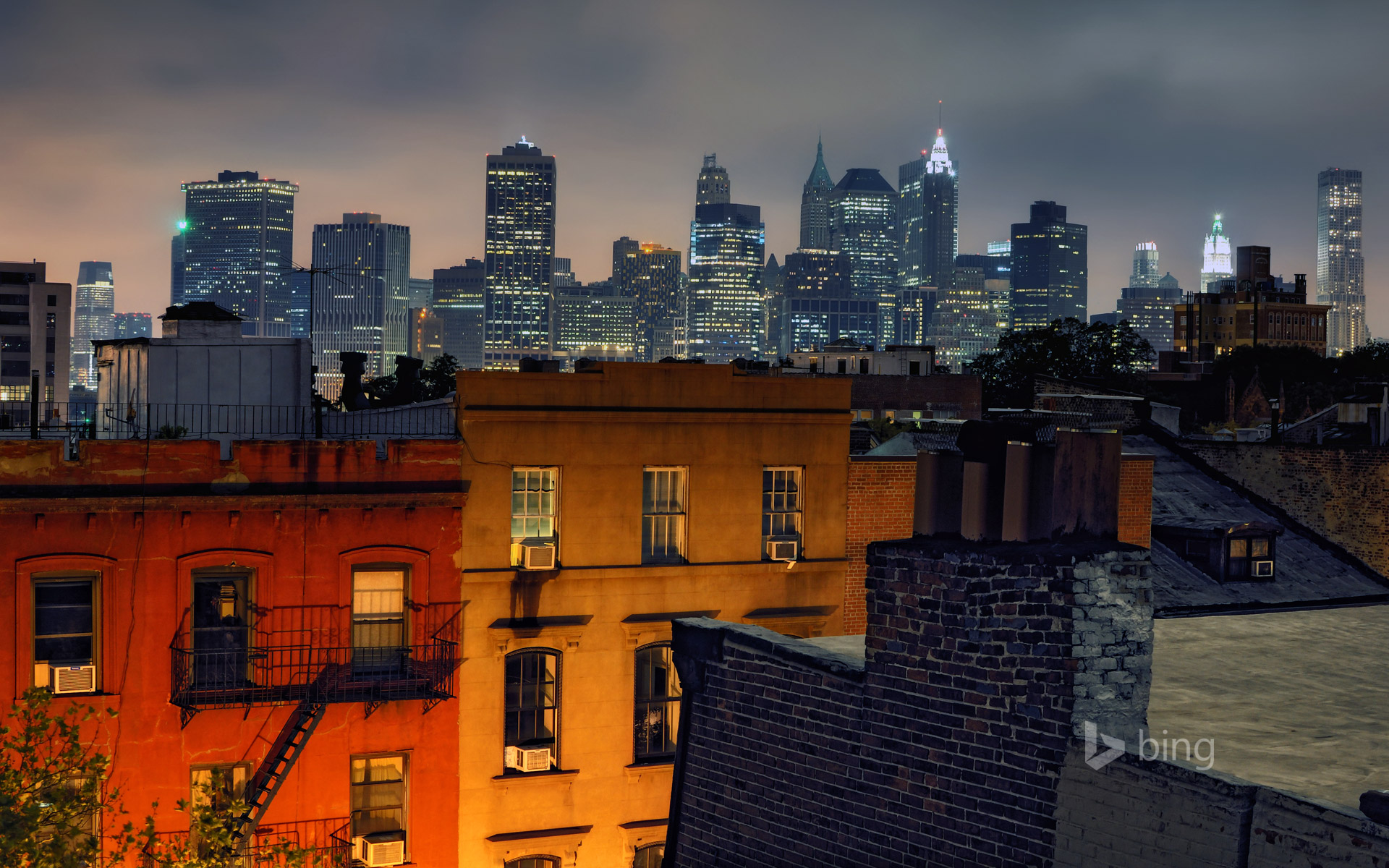 Manhattan's Financial District as seen from Brooklyn Heights, New York