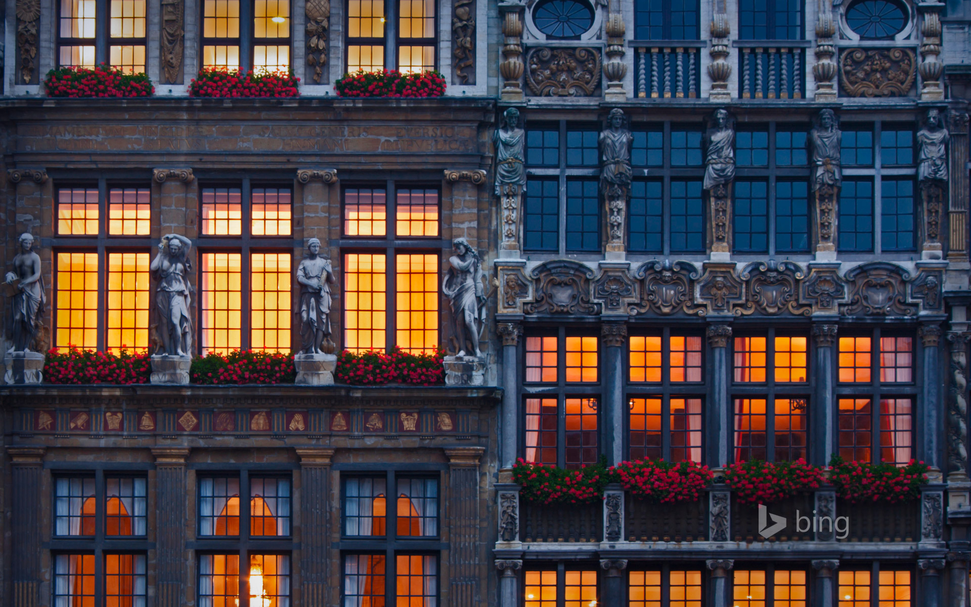 Buildings in the Grand Place, Brussels, Belgium