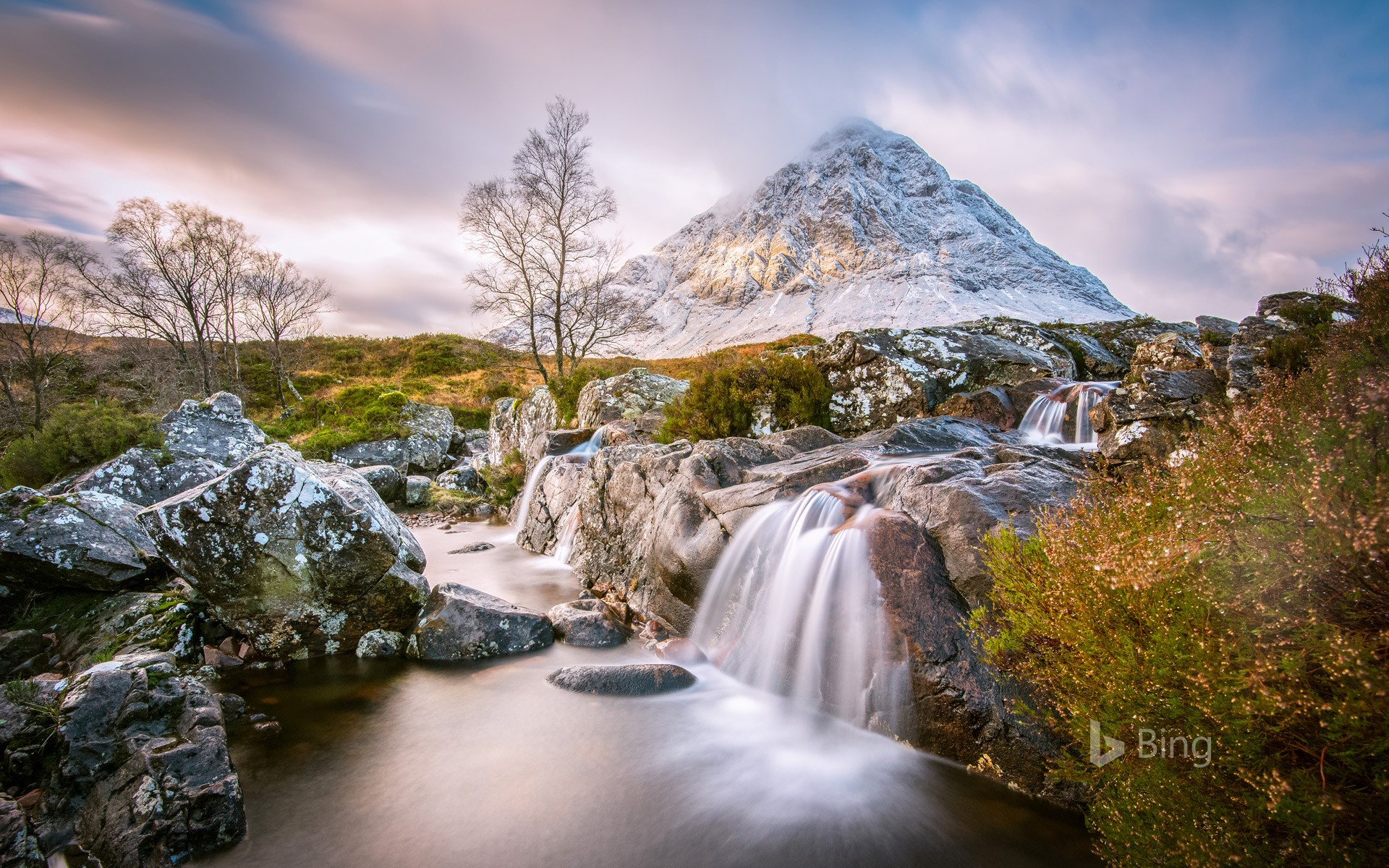 View of Buachaille Etive Mor in the Scottish Highlands