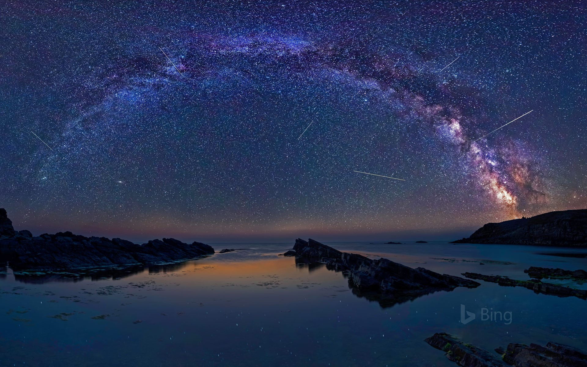 The Perseids meteor shower over Sinemorets, Bulgaria