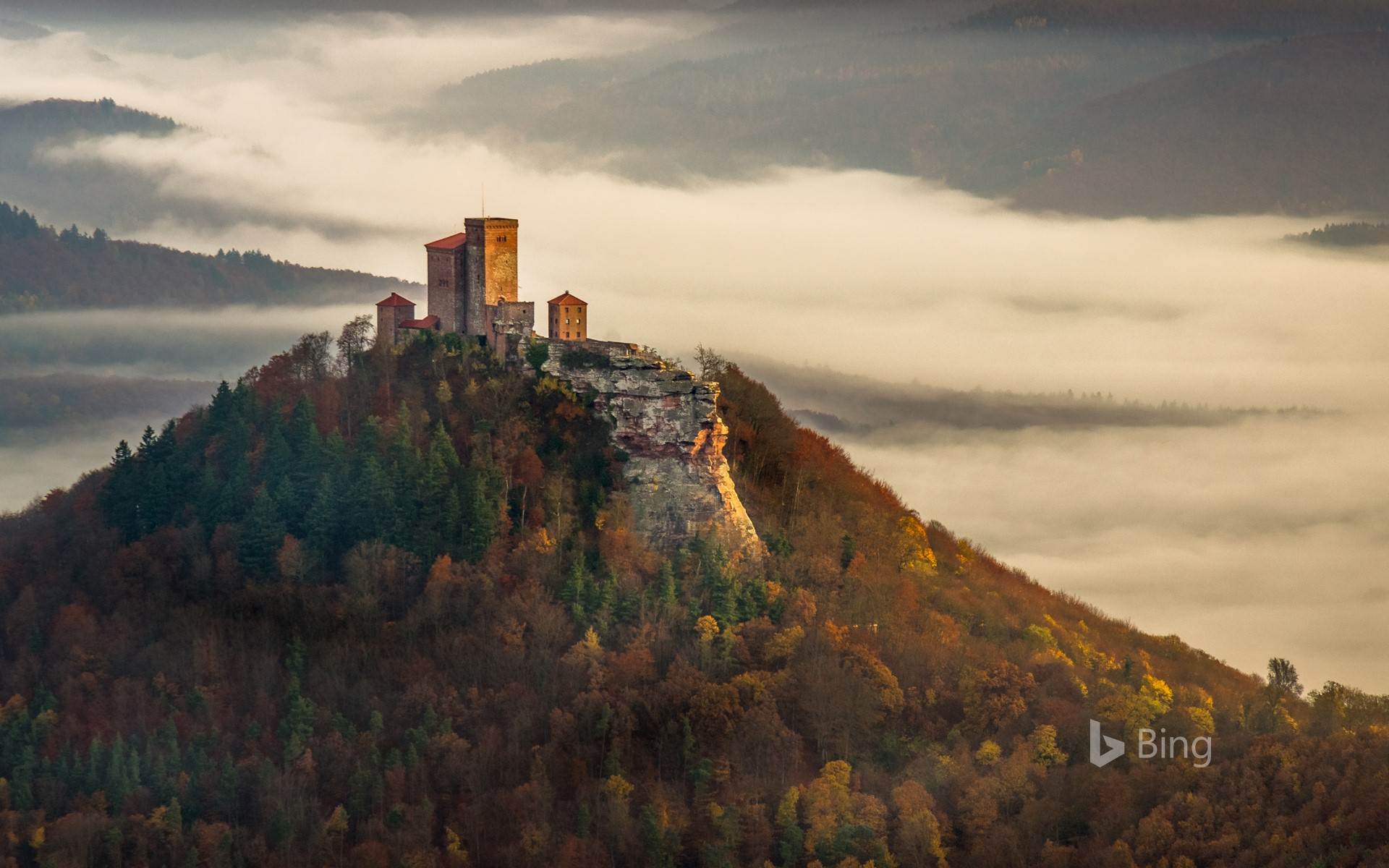Trifels Castle in the Palatinate Forest, Rhineland-Palatinate, Germany