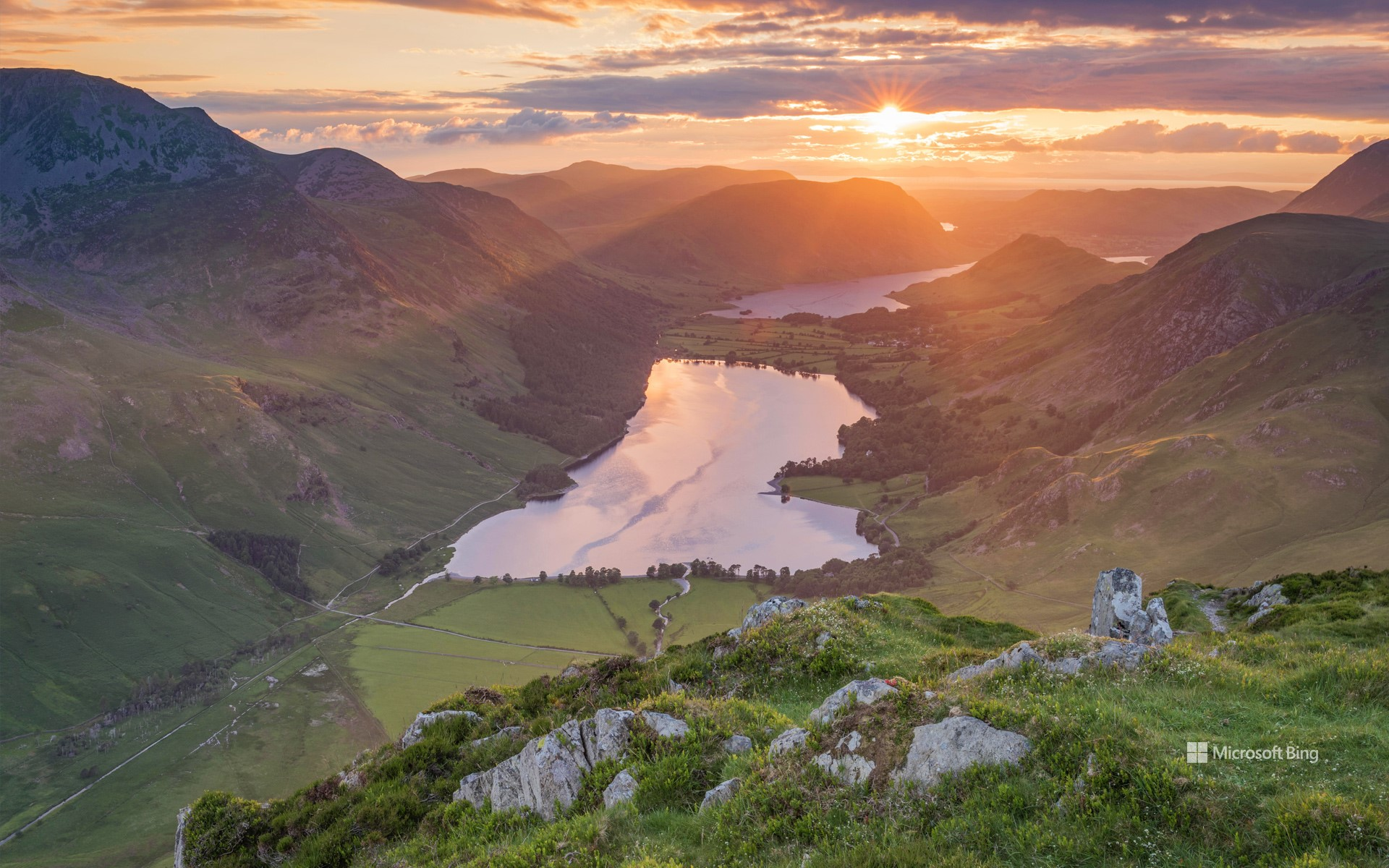 Sunset over Buttermere, Lake District, Cumbria