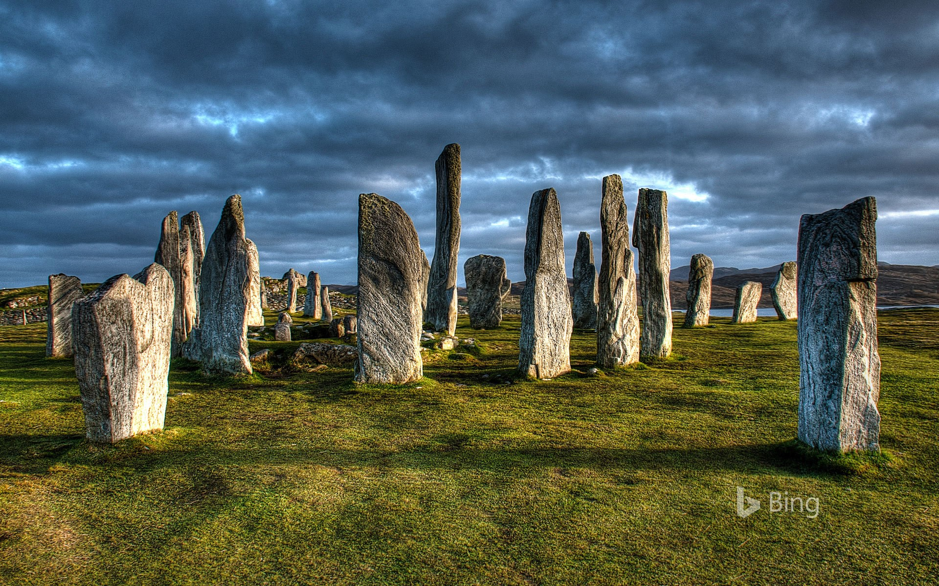 The Callanish Stones on the Isle of Lewis, Scotland