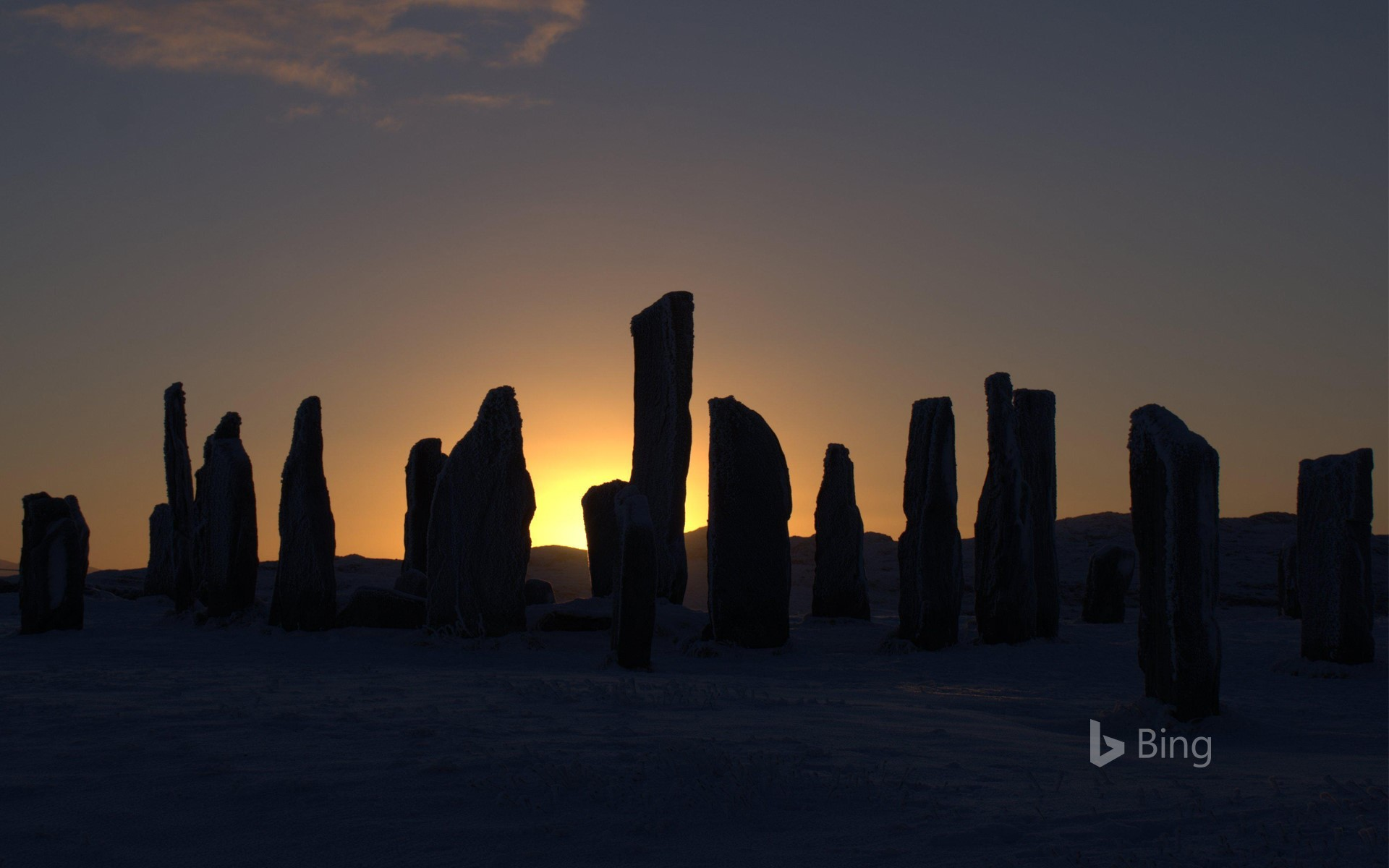 The Callanish Stones, Isle of Lewis, at sunset