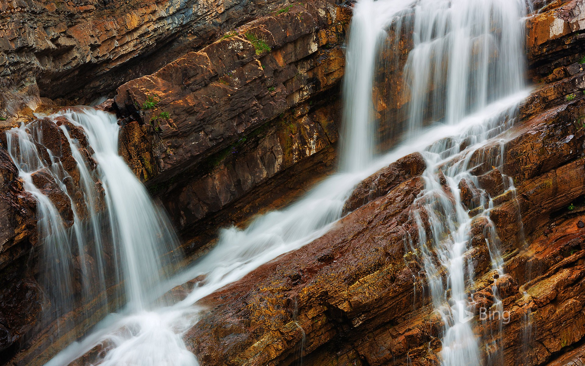 Cameron Falls in Waterton Lakes National Park, Alberta, Canada