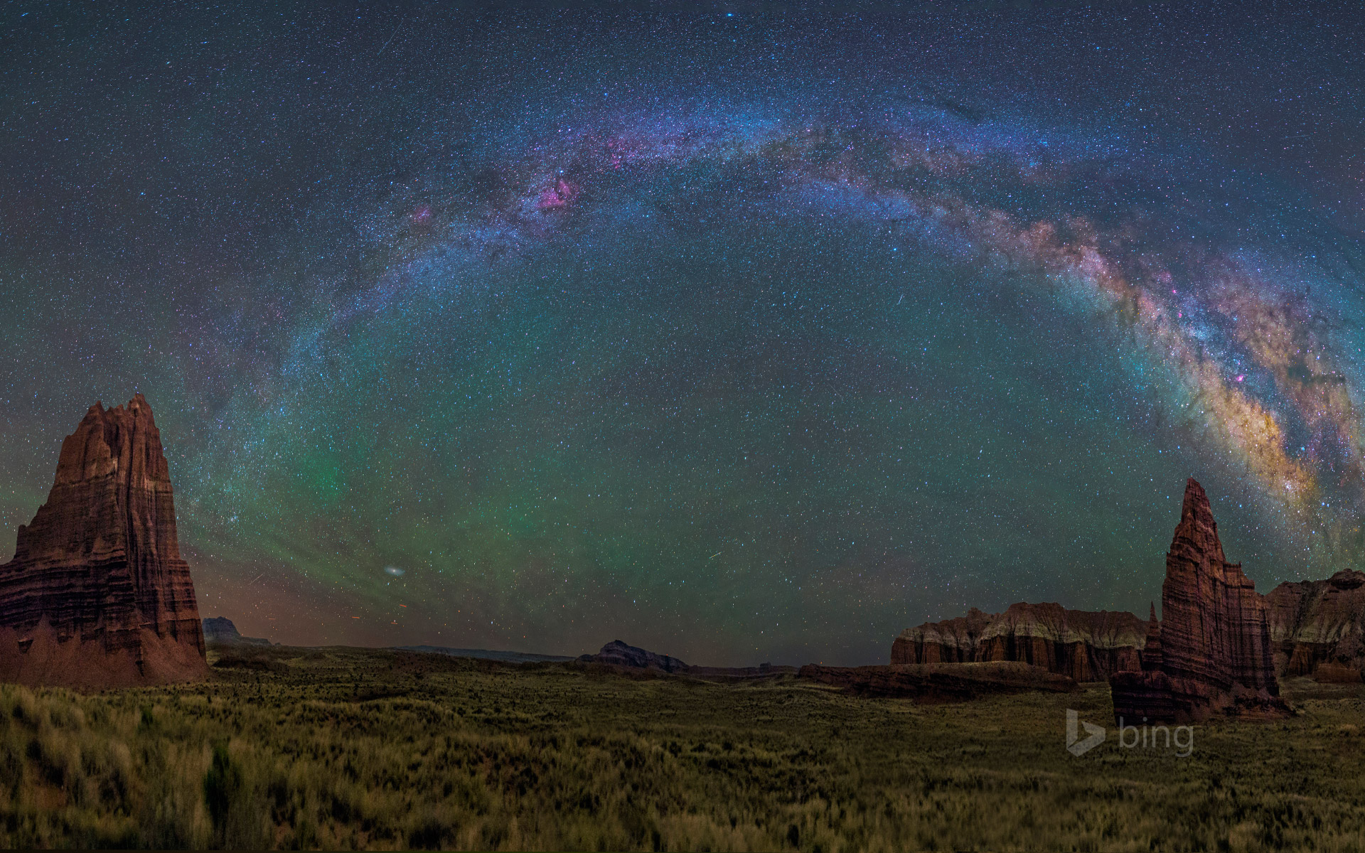 The Milky Way over Capitol Reef National Park in Utah