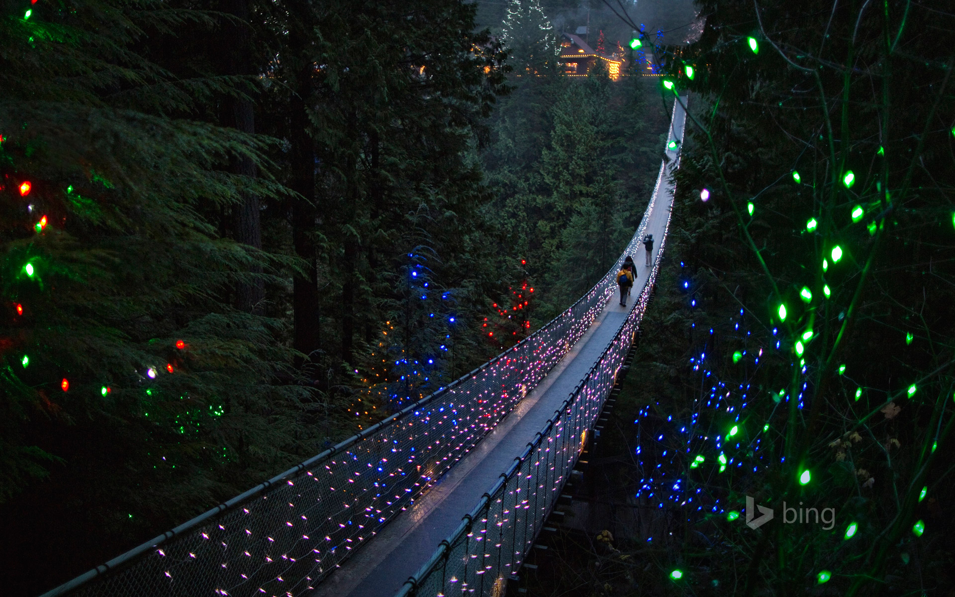 The Capilano Suspension Bridge in Vancouver, British Columbia, Canada