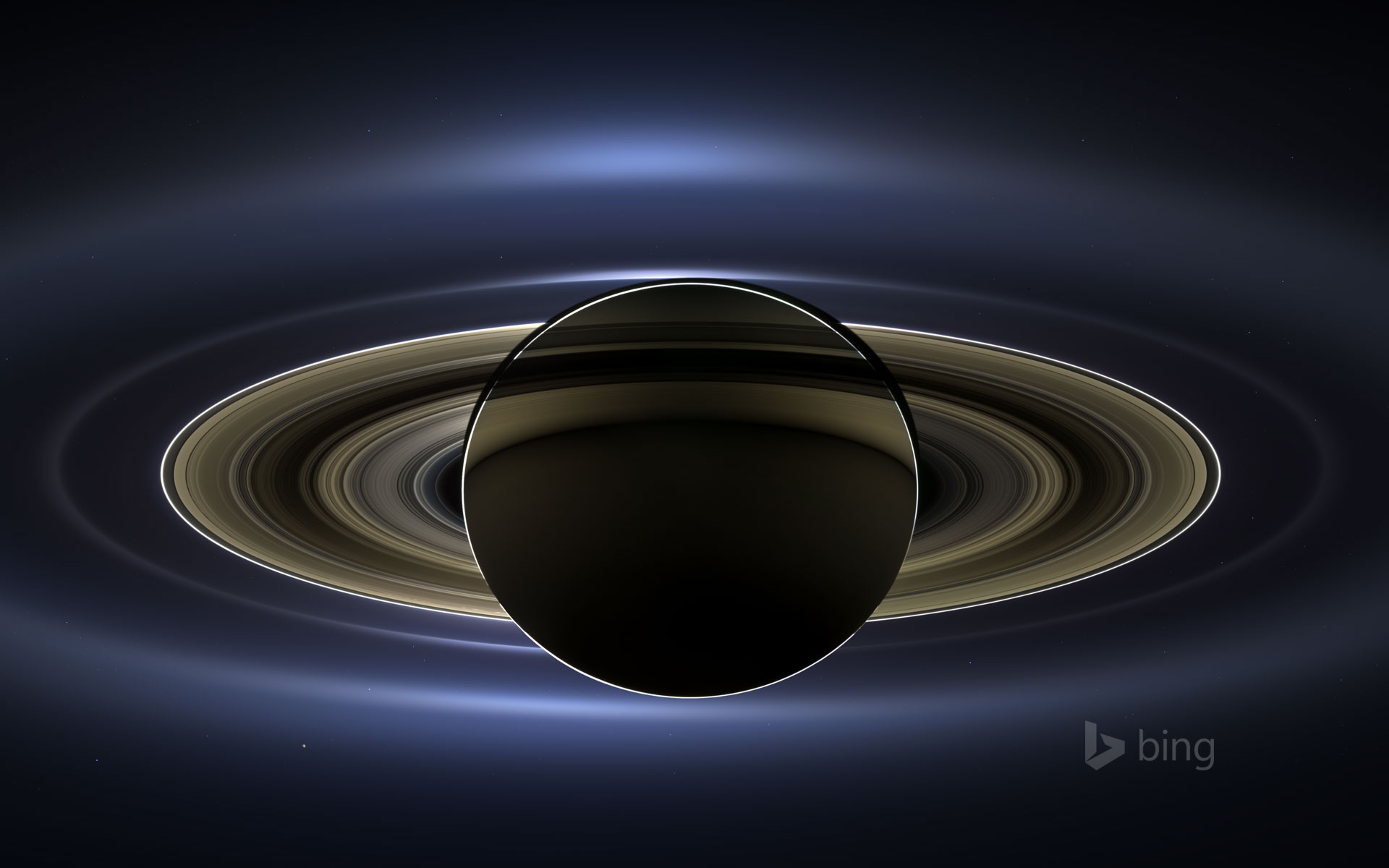 Saturn, photographed from NASA's Cassini-Huygens spacecraft