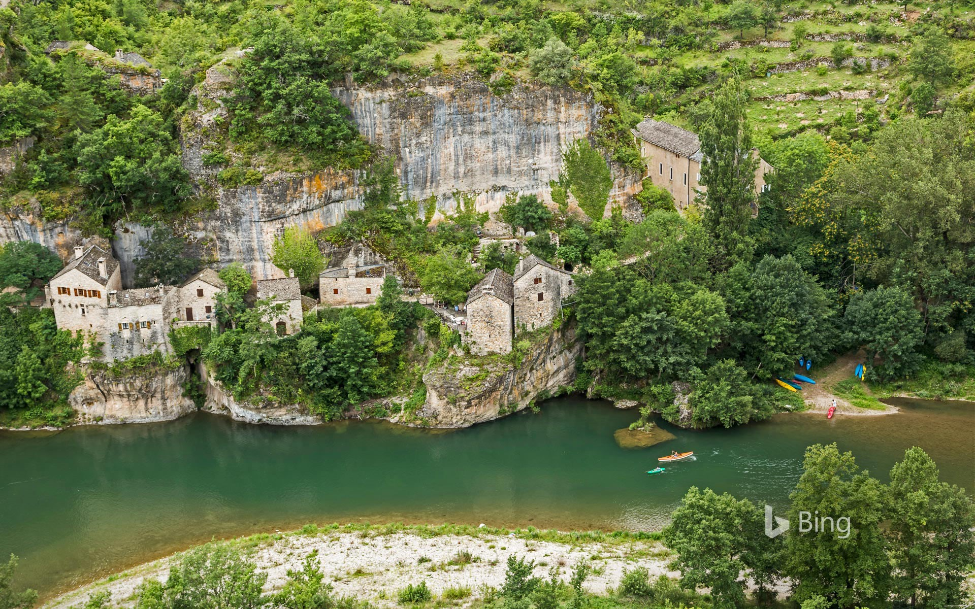 Castelbouc and the Gorges du Tarn along the Tarn River in France