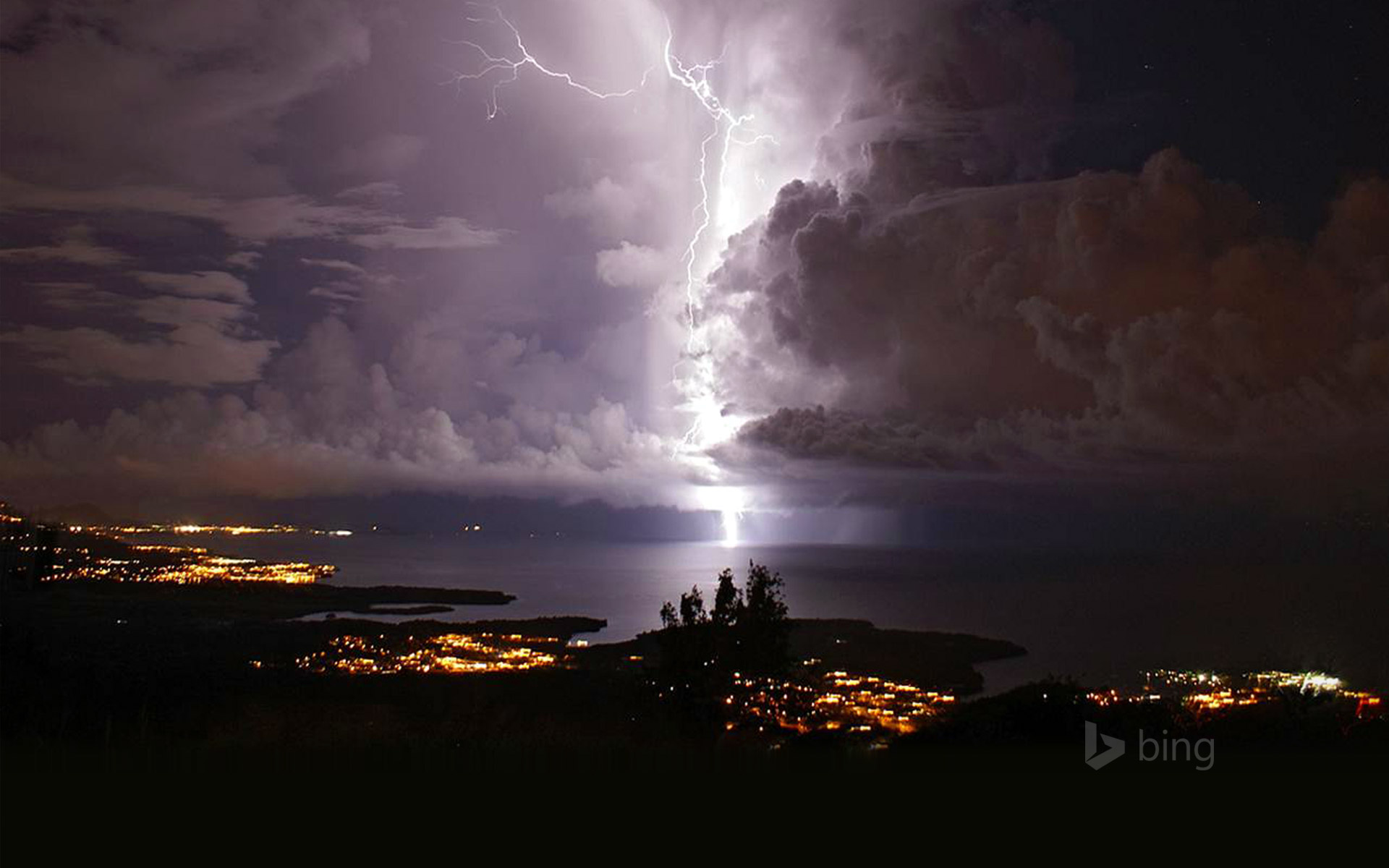 Catatumbo lightning over Zulia, Venezuela