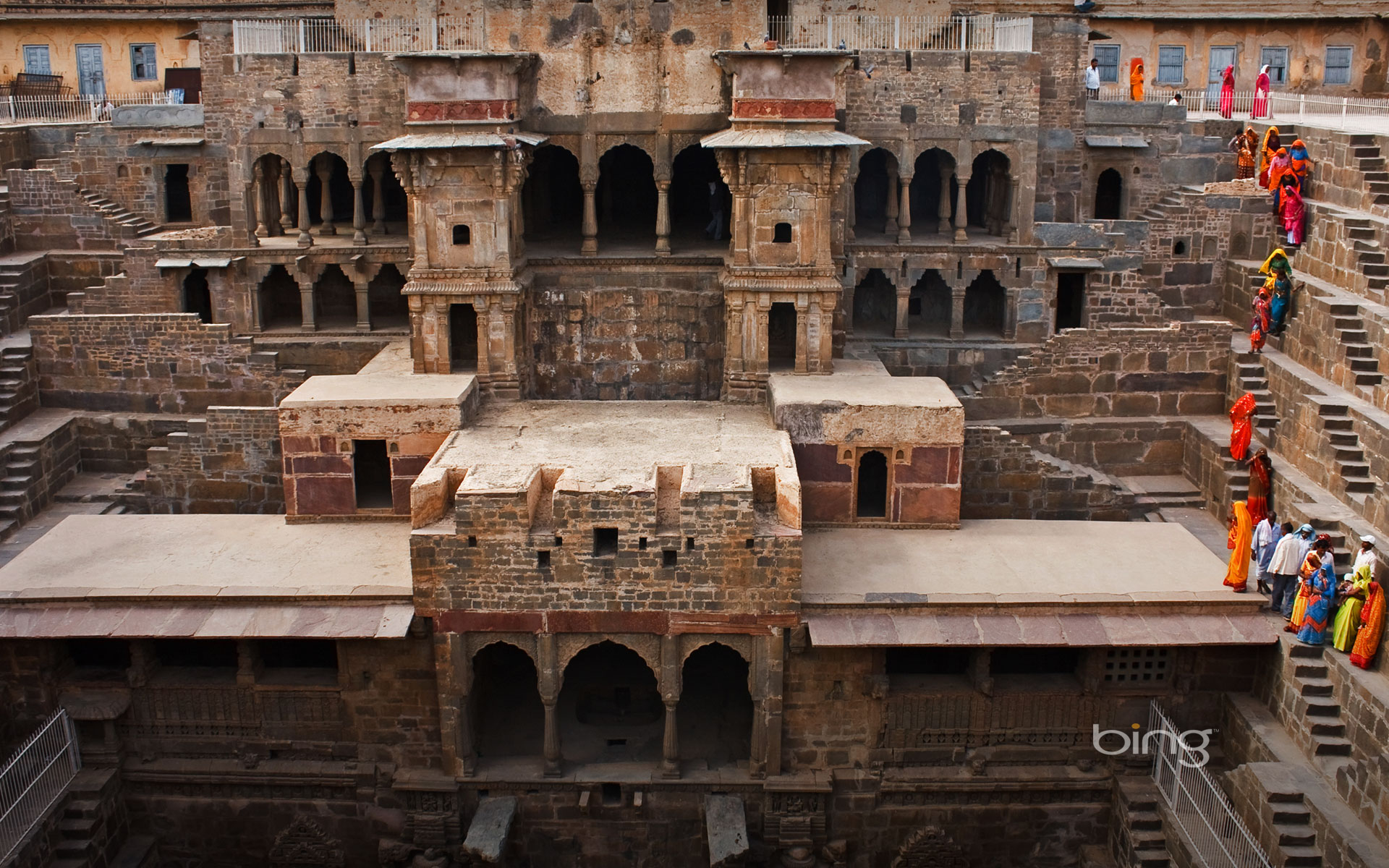 Chand Baori stepwell in Abhaneri, India