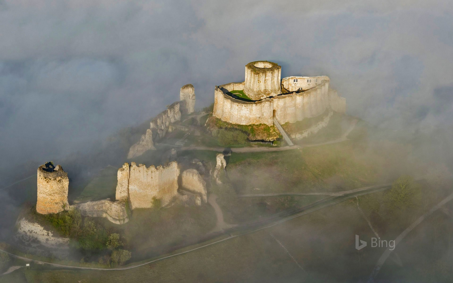 Château Gaillard, a 12th-century fortress in the Seine Valley, France