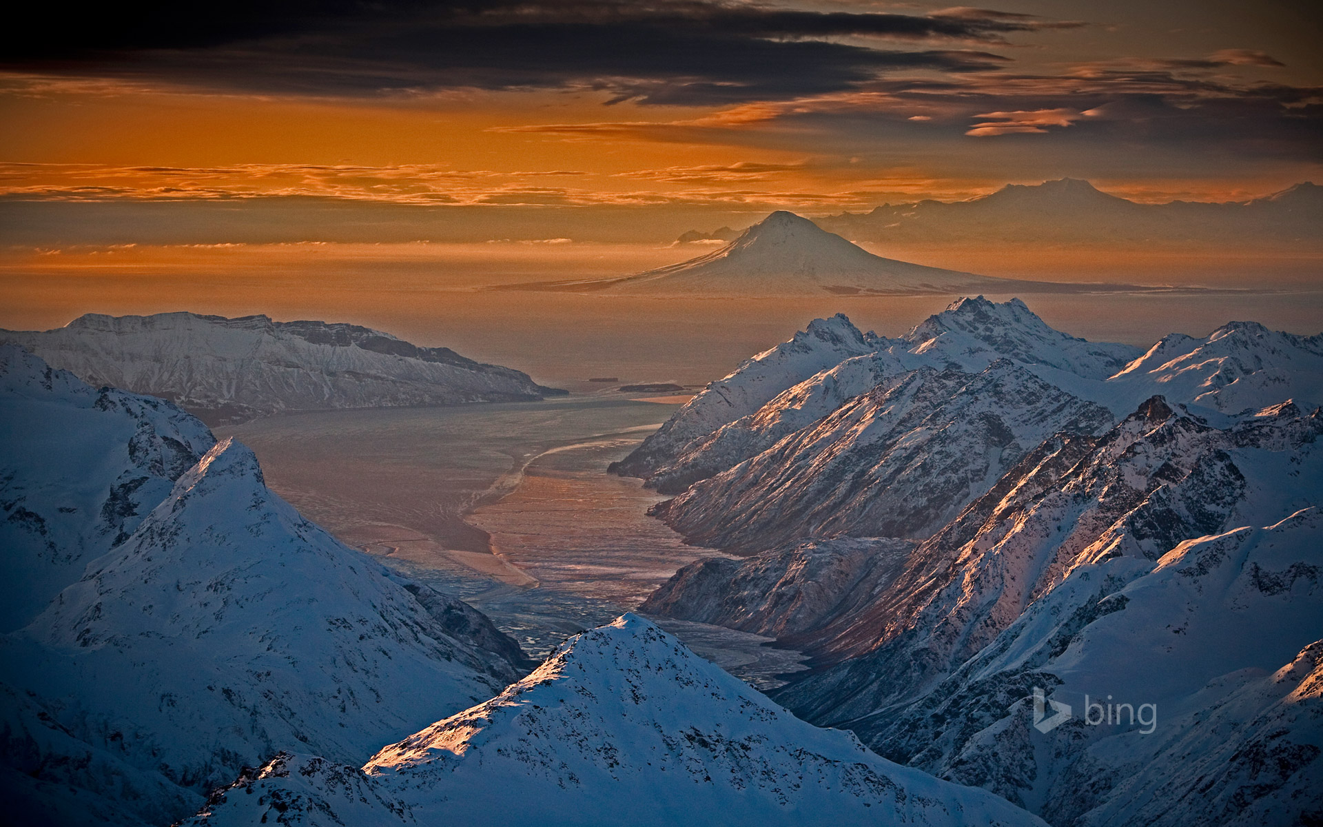 Chigmit Mountains and Lake Clark National Park and Preserve, Alaska