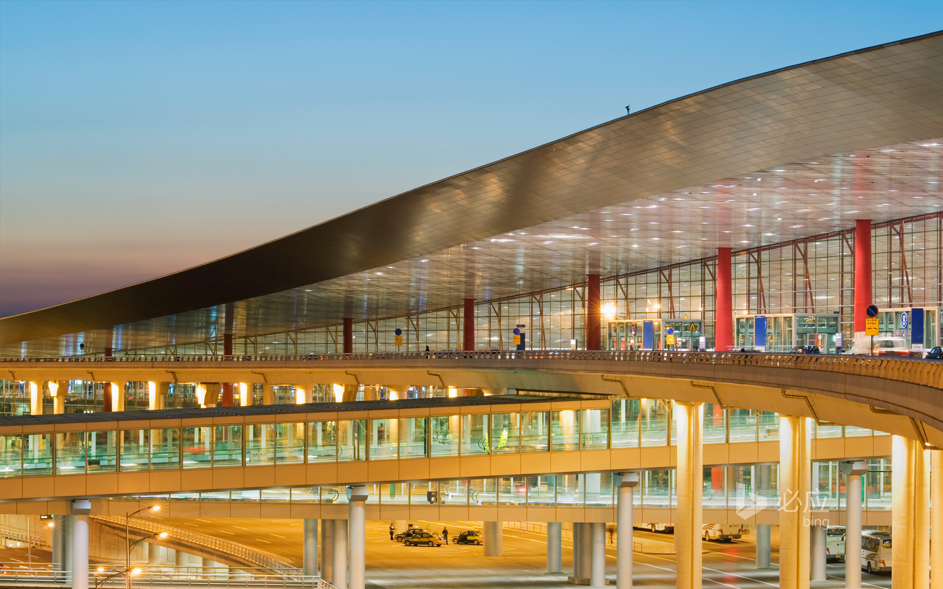 Part of the building of Beijing Capital Airport Terminal T3