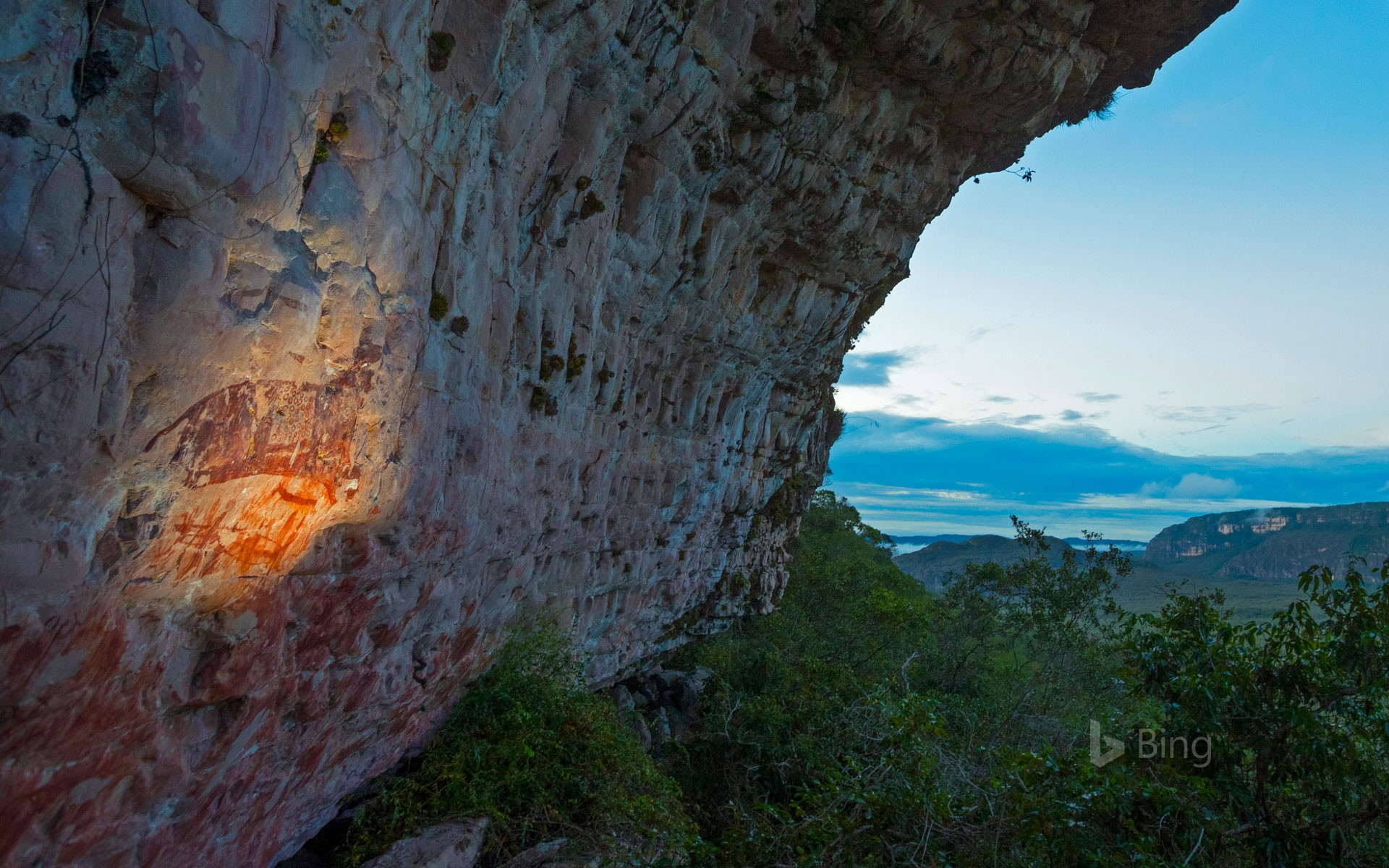 Ancient rock art in Chiribiquete National Natural Park, Colombia