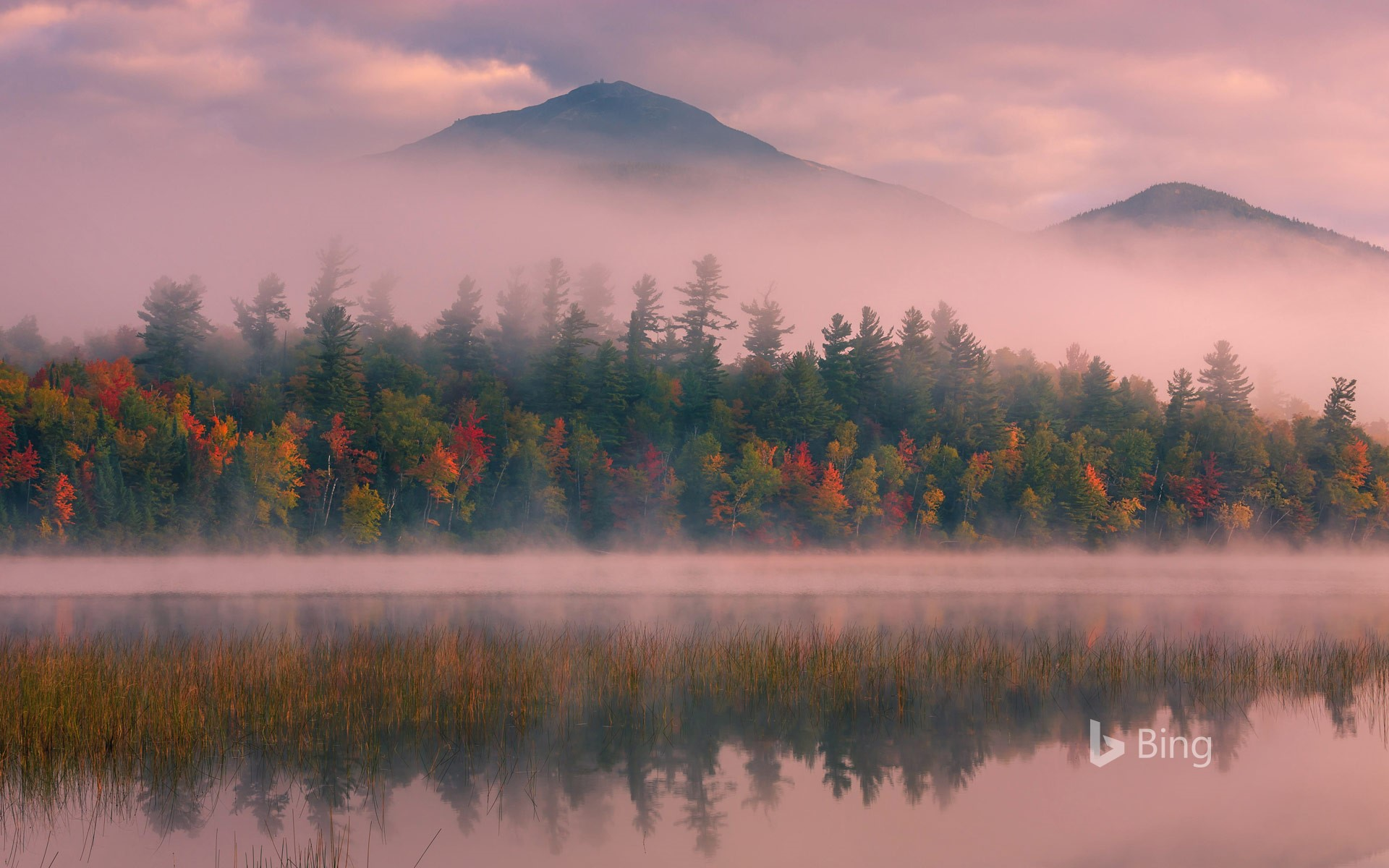 Connery Pond and Whiteface Mountain in New York state