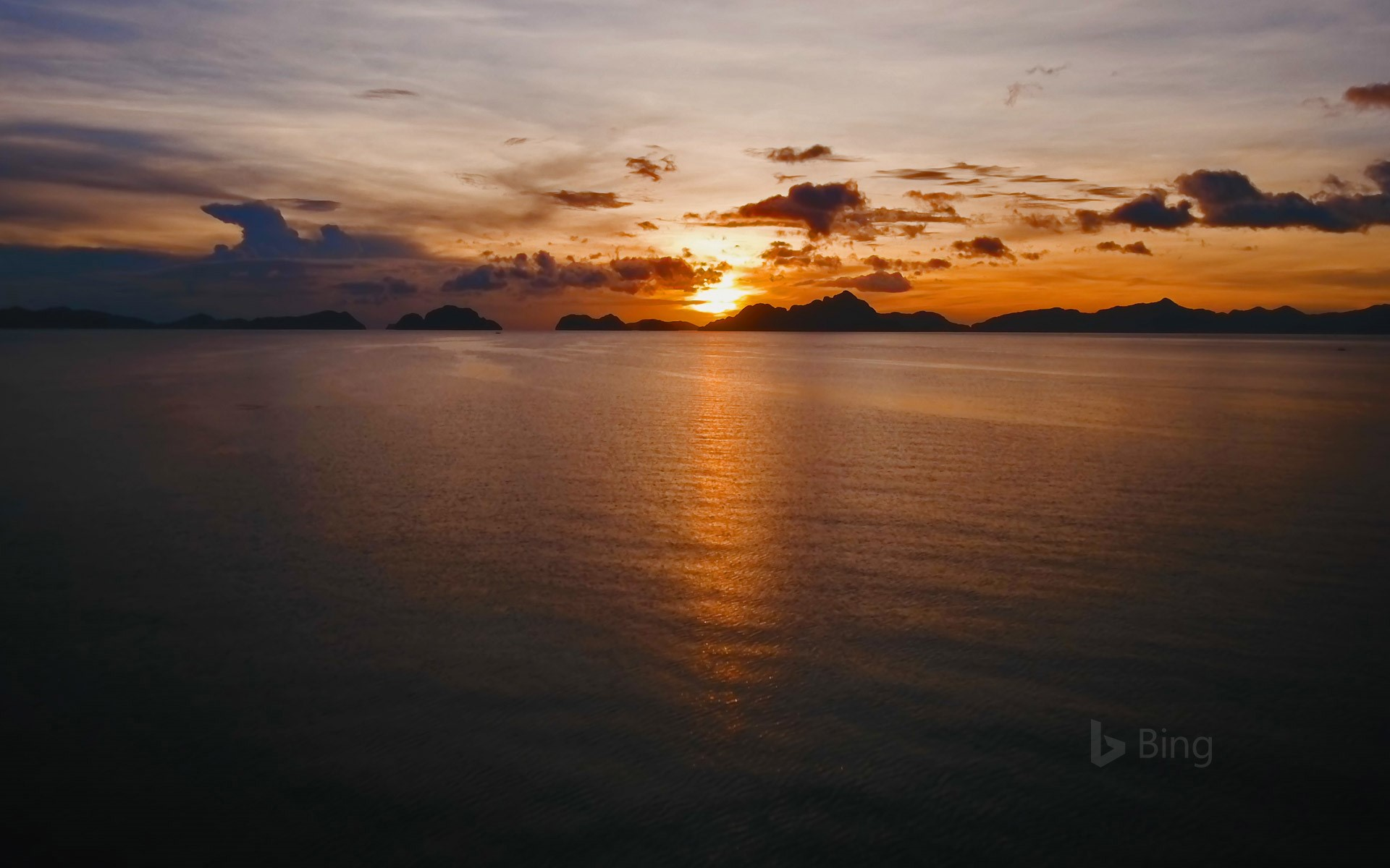 View of Bacuit Bay from El Nido, Palawan, Philippines
