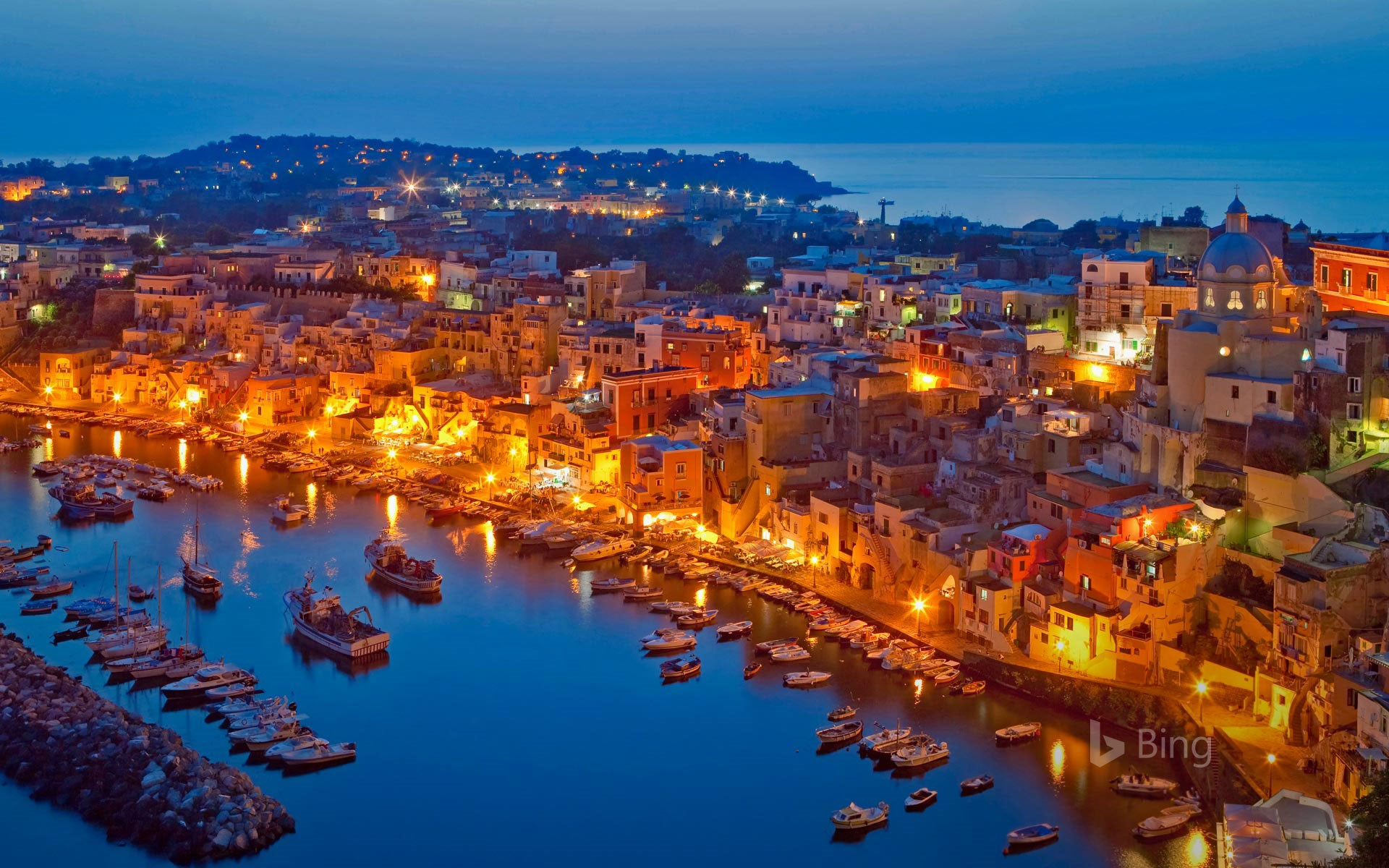 Procida in the Bay of Naples, Italy