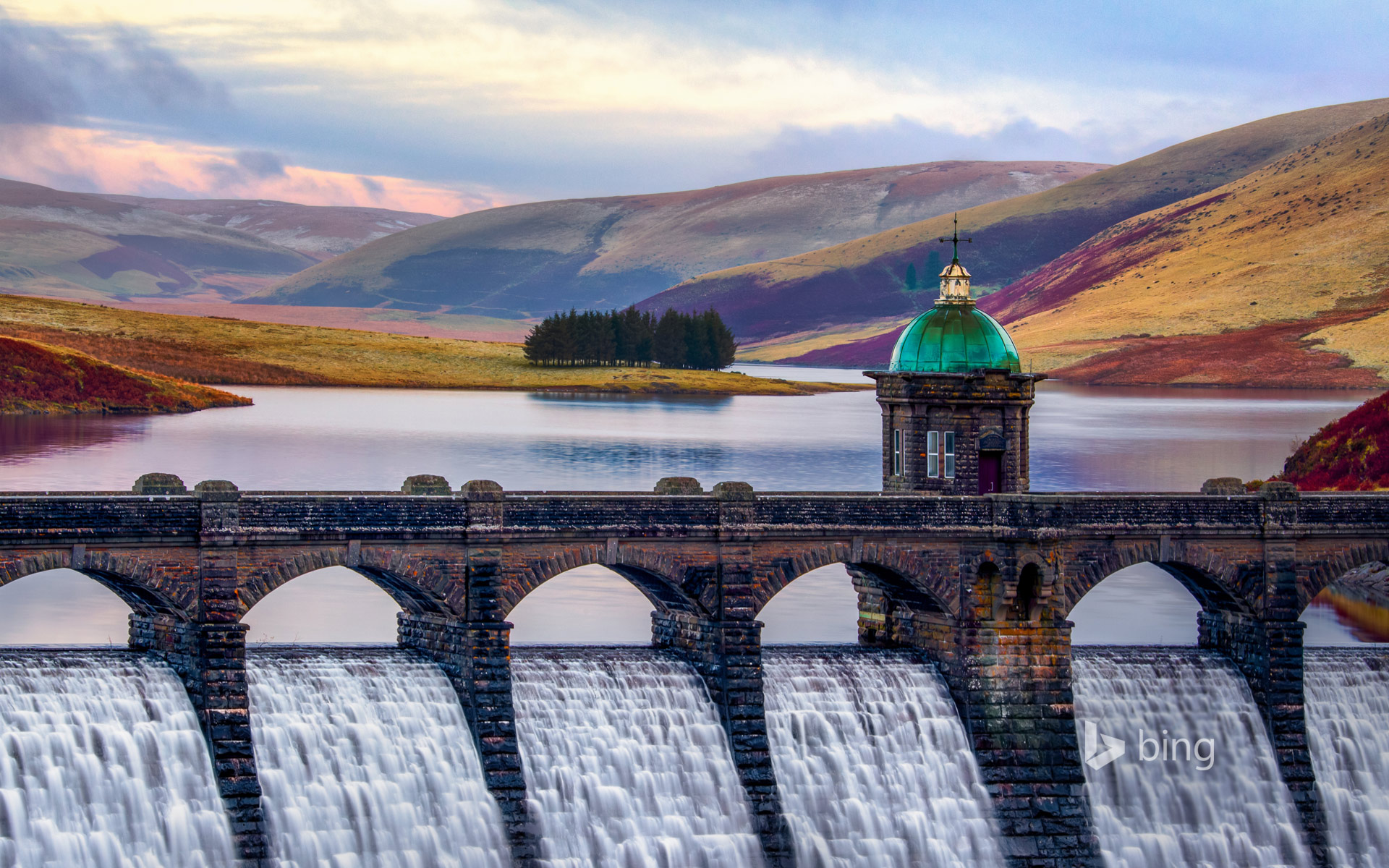 Craig Goch Dam in the Elan Valley, Wales