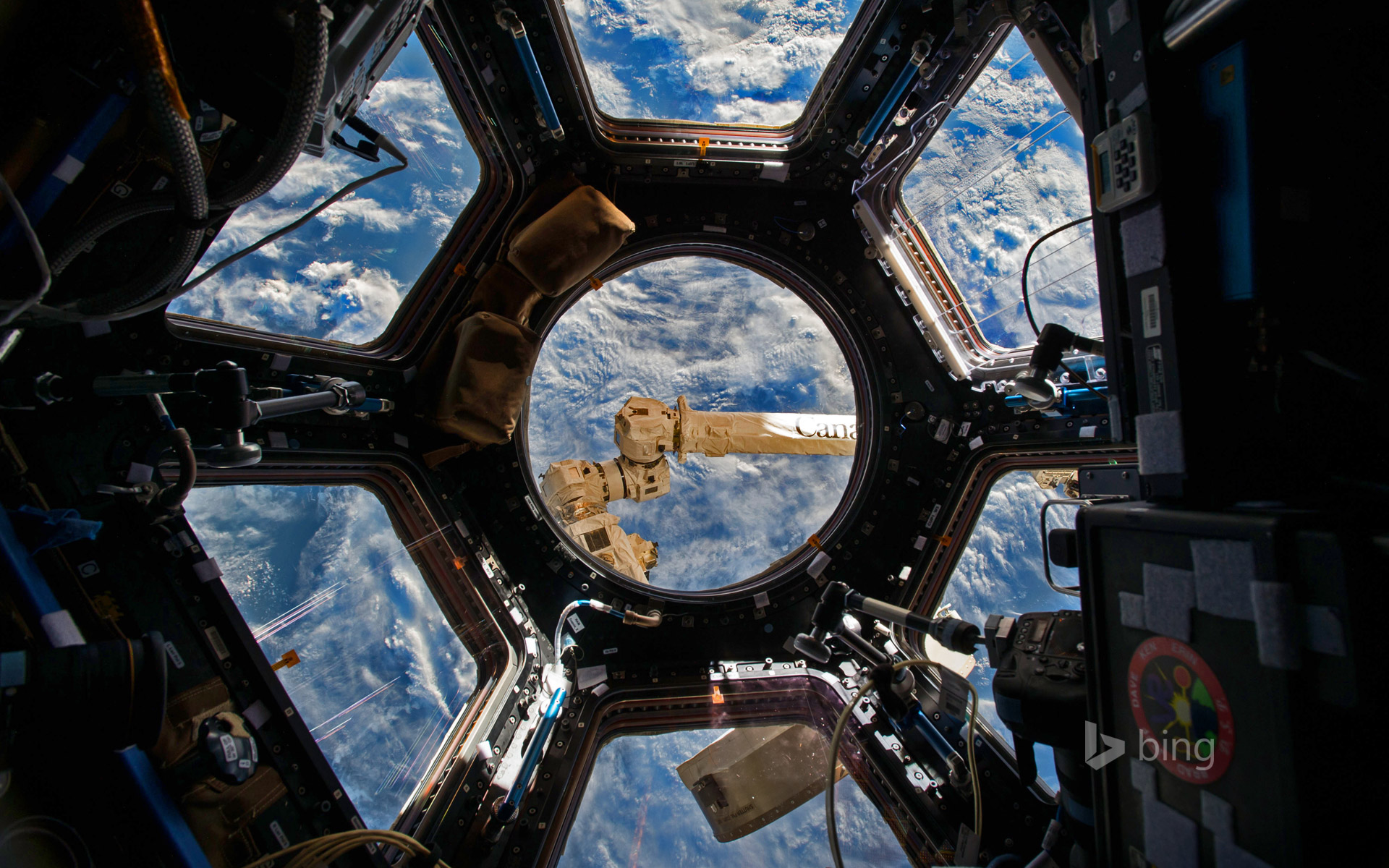 View from the Cupola of the International Space Station