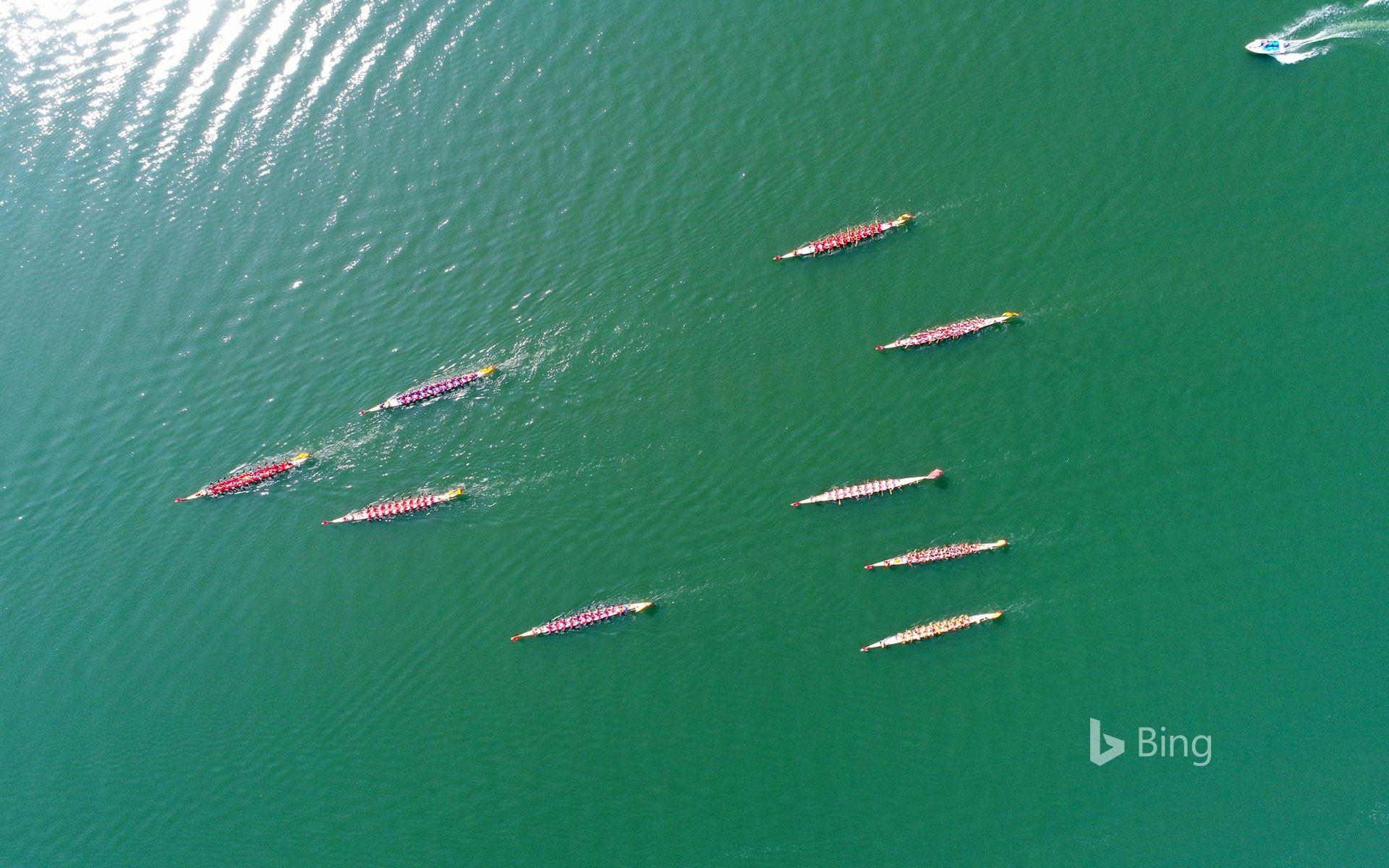 [Today's Dragon Boat Festival] 12 dragon boats participating in the Xiangyang Dragon Boat Race, Xiangyang City, Hubei Province, China