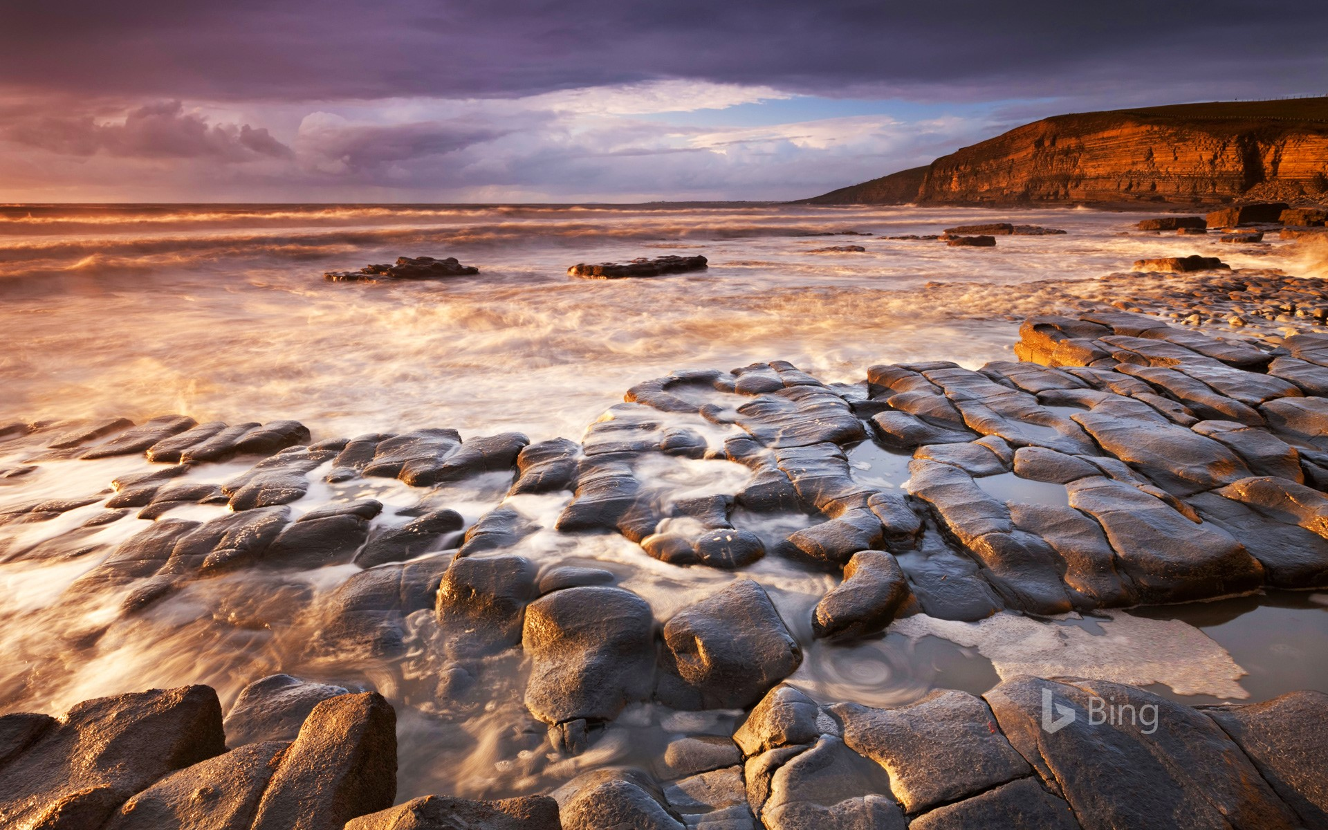 Dunraven Bay on the Glamorgan Heritage Coast, South Wales