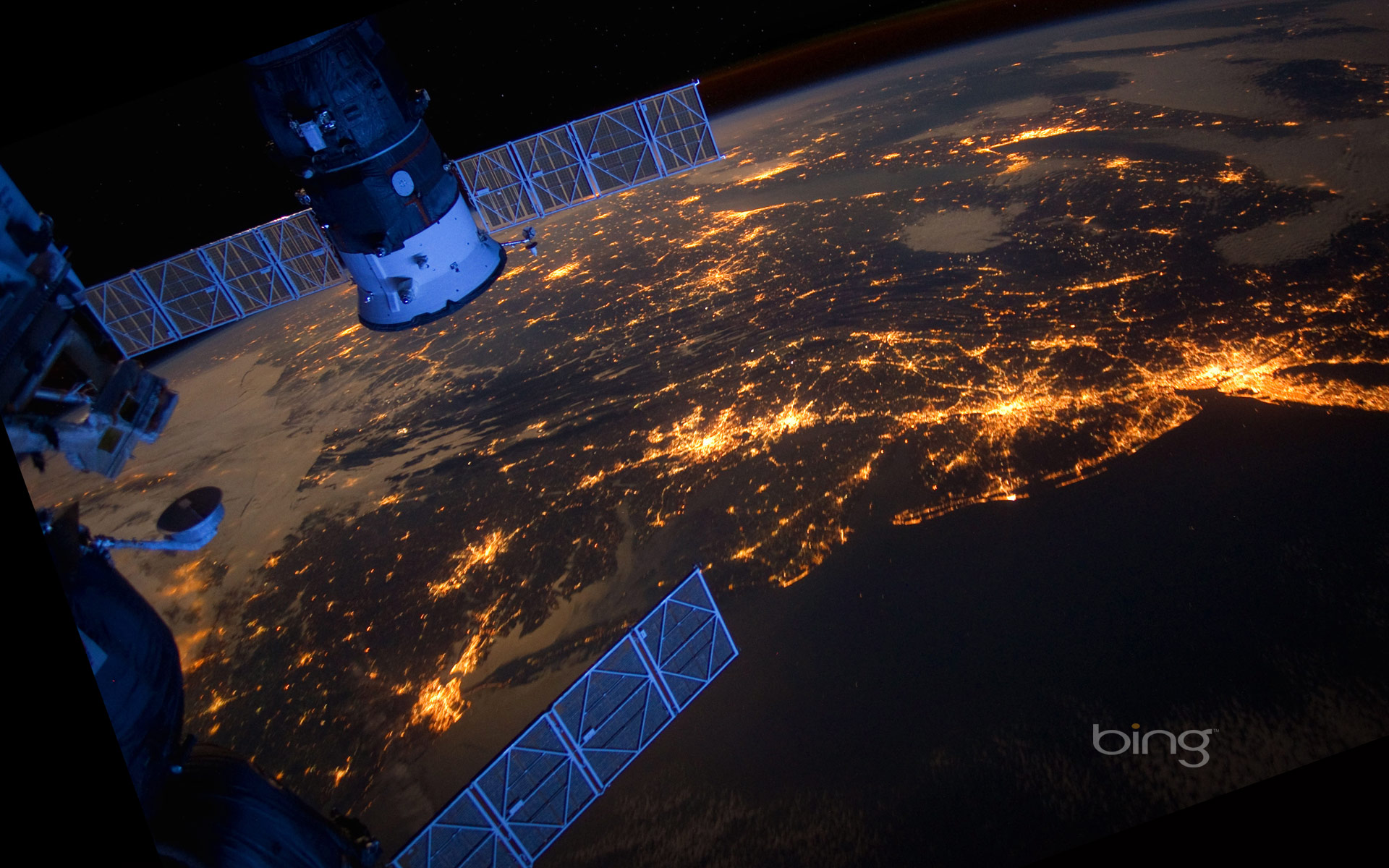 East Coast of the United States as seen from the International Space Station