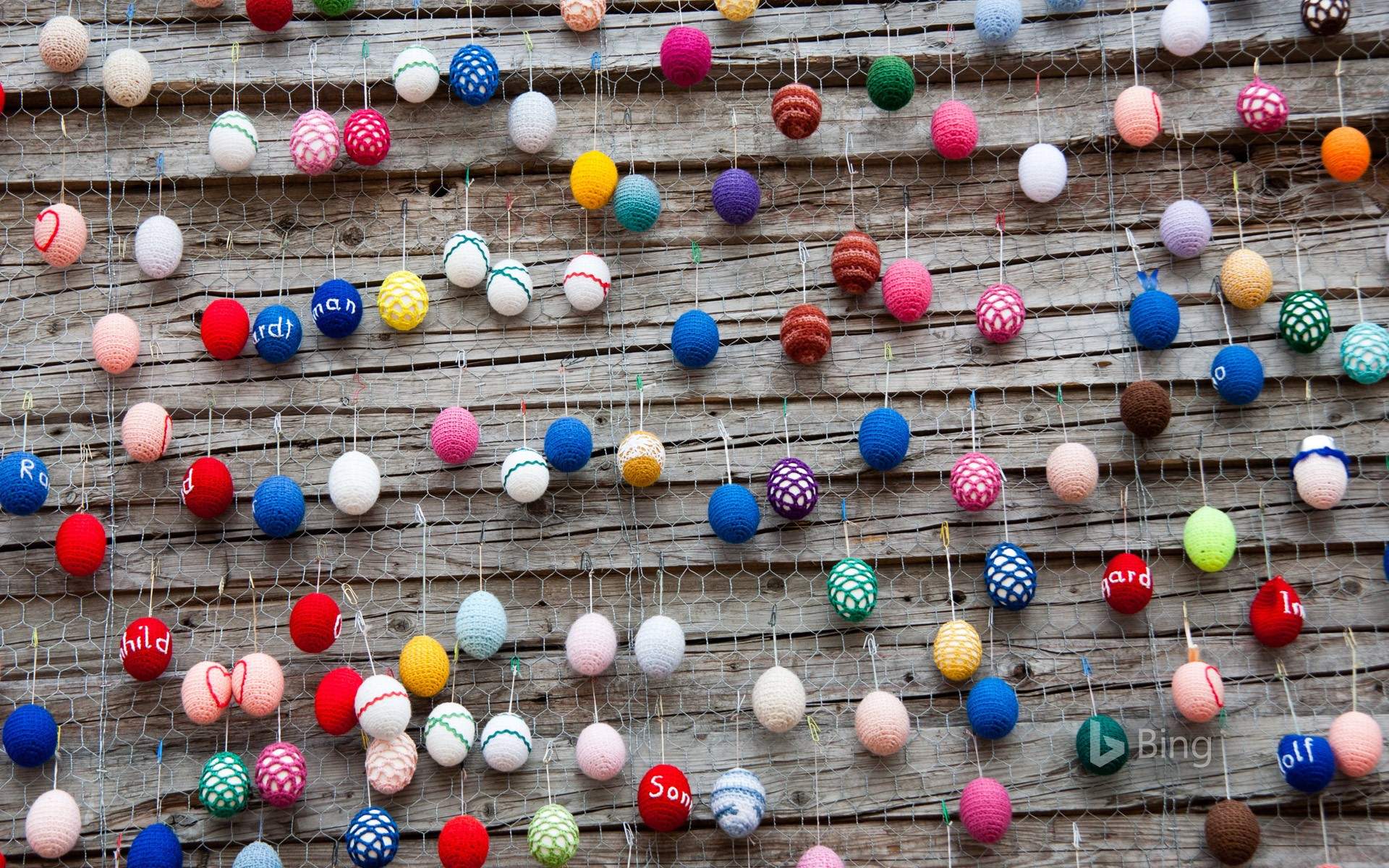 Easter decorations at Alexanderplatz, Berlin, Germany