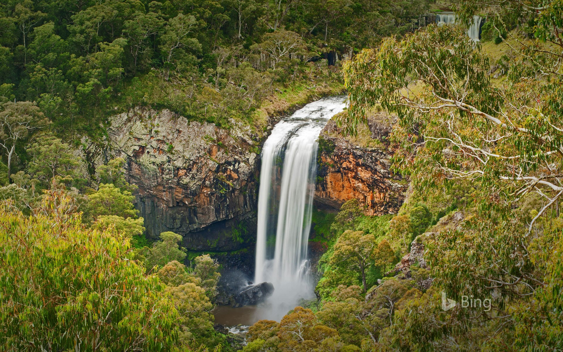 Ebor Falls in the Guy Fawkes River National Park of Australia