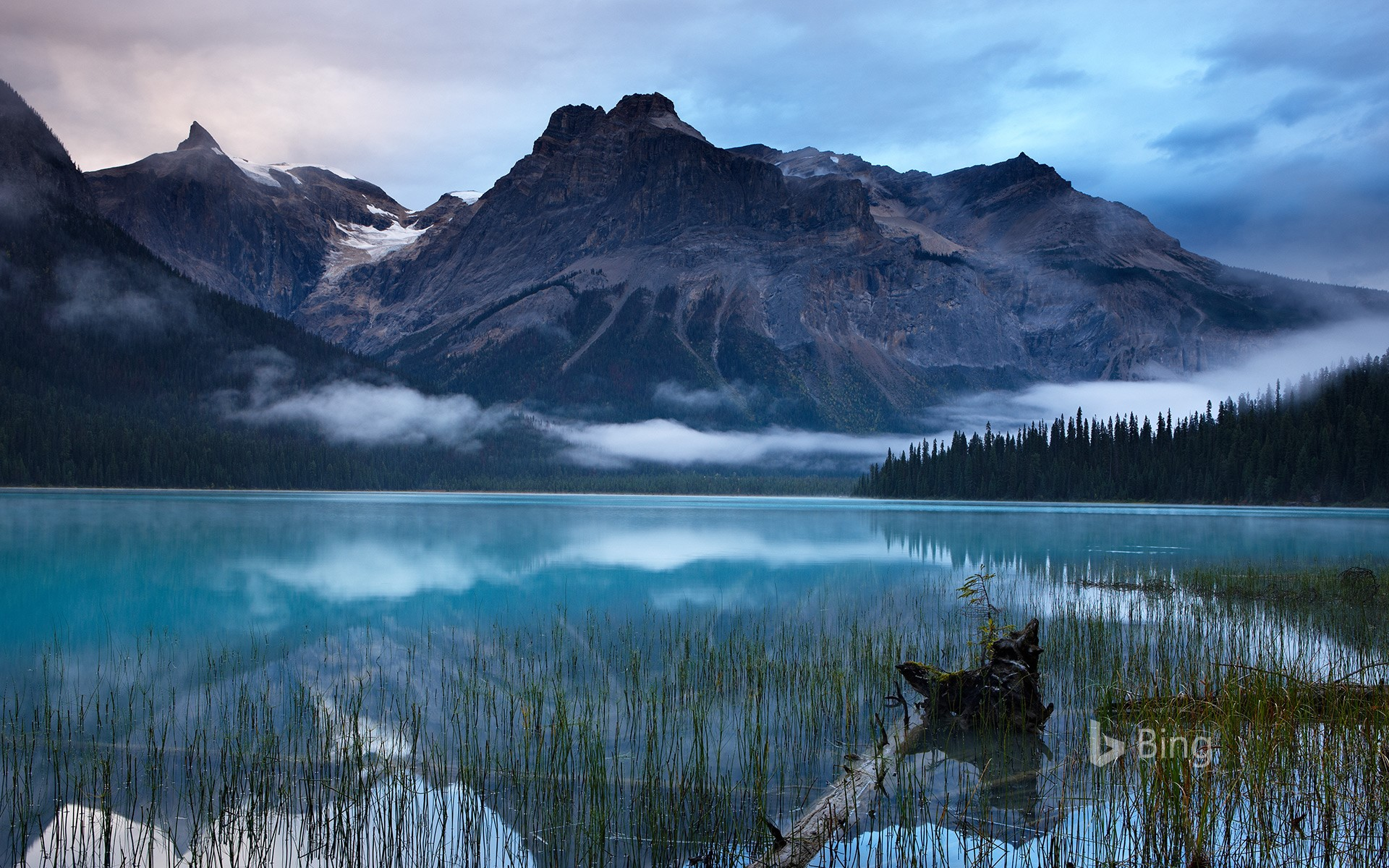 Emerald Lake with the peaks of the President Range in Yoho National Park, B.C., Canada