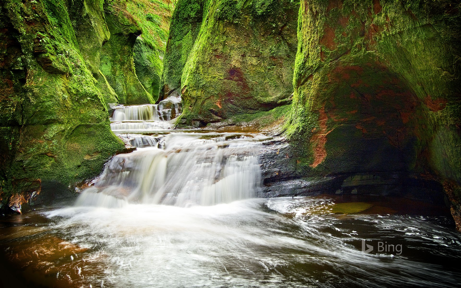 Finnich Glen in Stirlingshire, Scotland