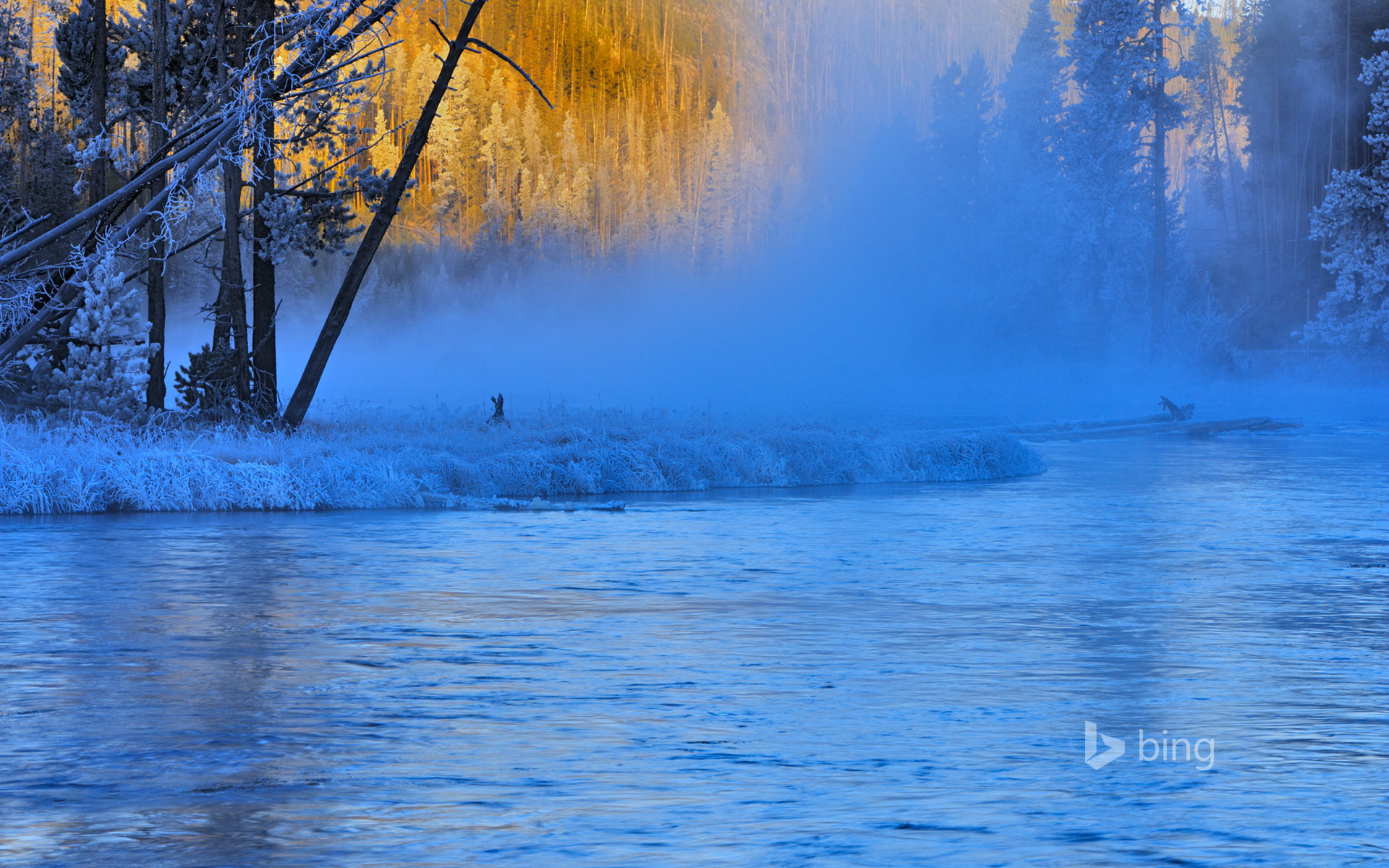 Firehole River in Yellowstone National Park, Wyoming
