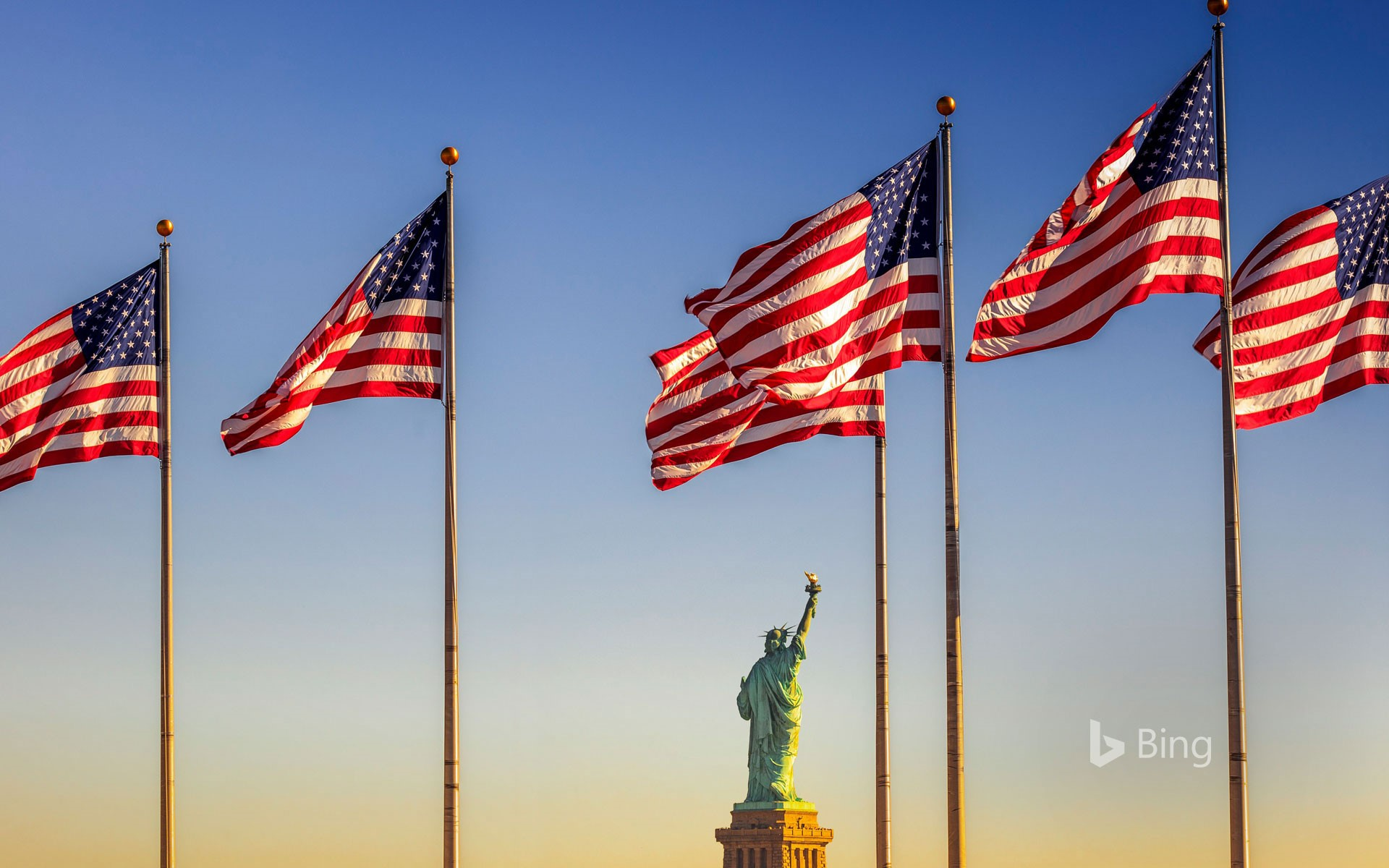 US Flag Plaza at Liberty State Park in Jersey City, New Jersey