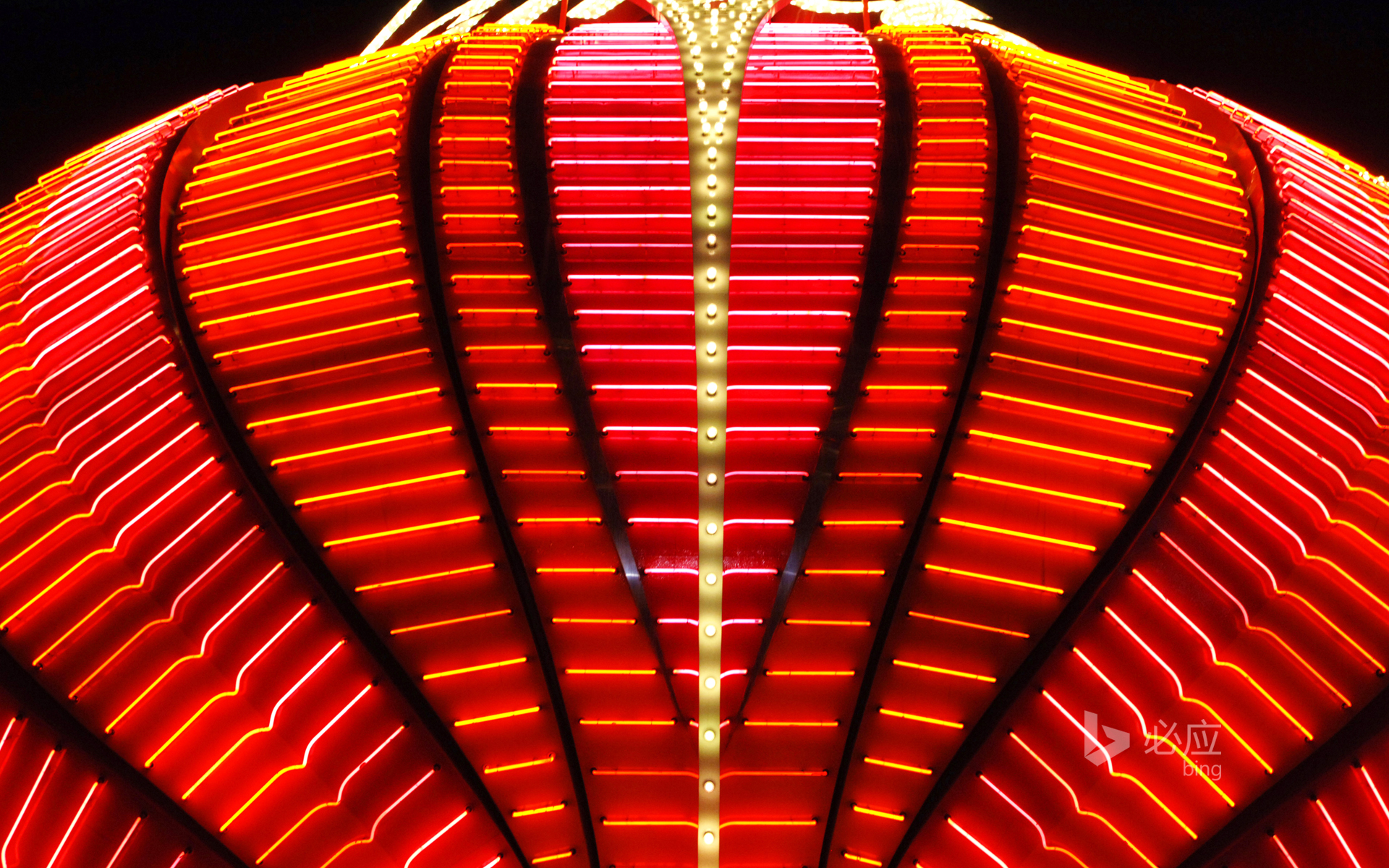 Neon sign at the Flamingo Casino in Las Vegas, USA