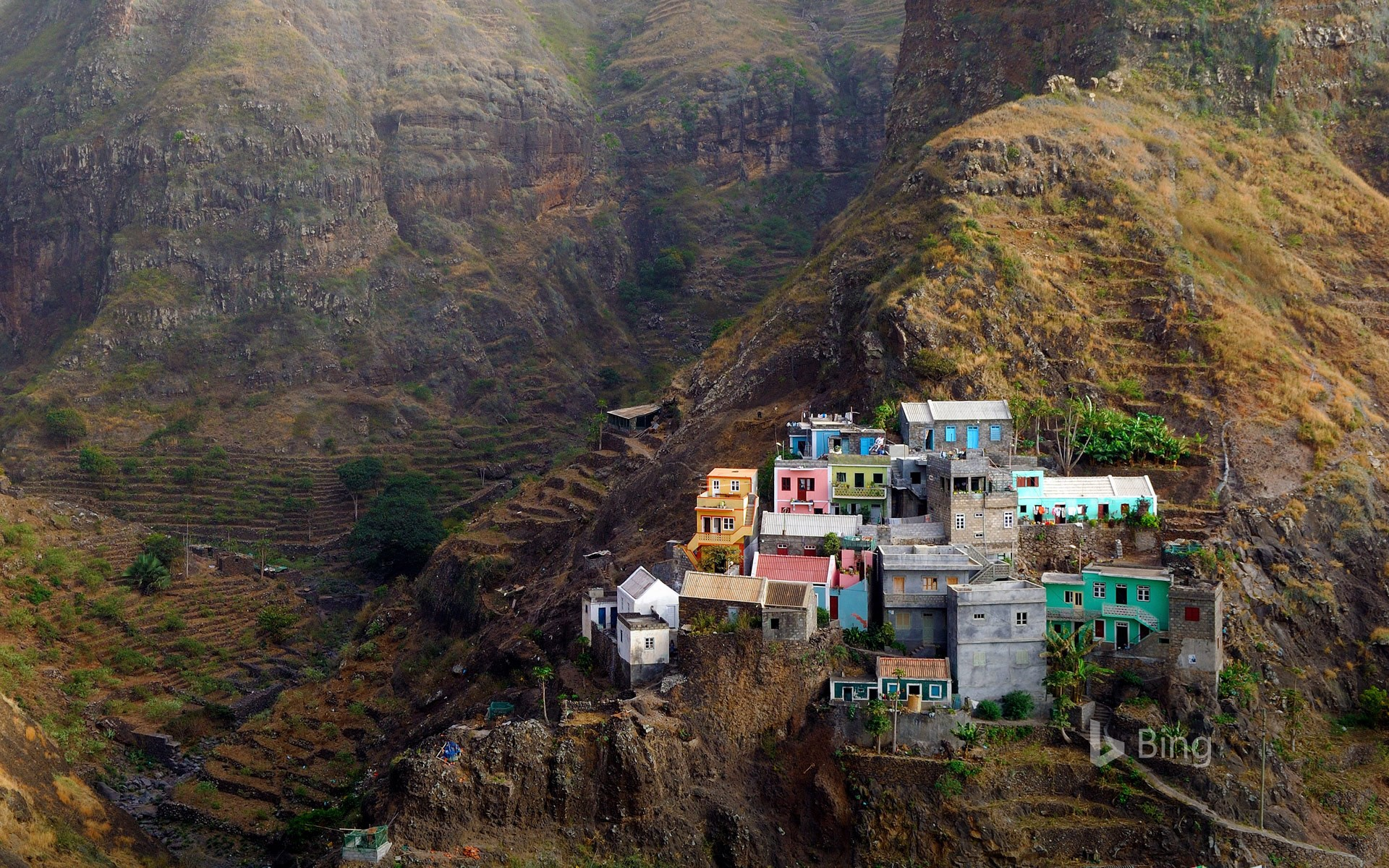 Village of Fontainhas on Santo Antão Island, the Republic of Cabo Verde