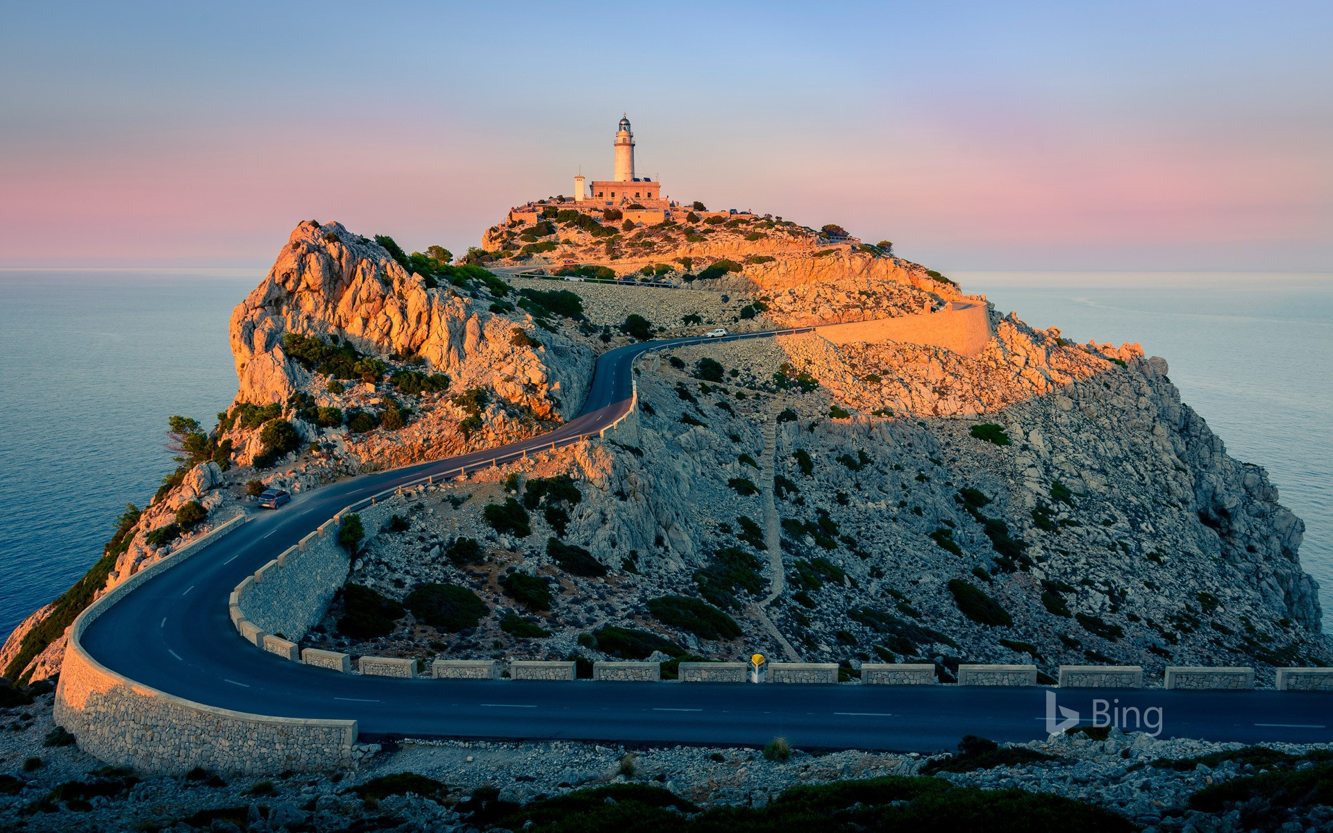 Formentor Lighthouse at the tip of Cap de Formentor, Mallorca, Spain