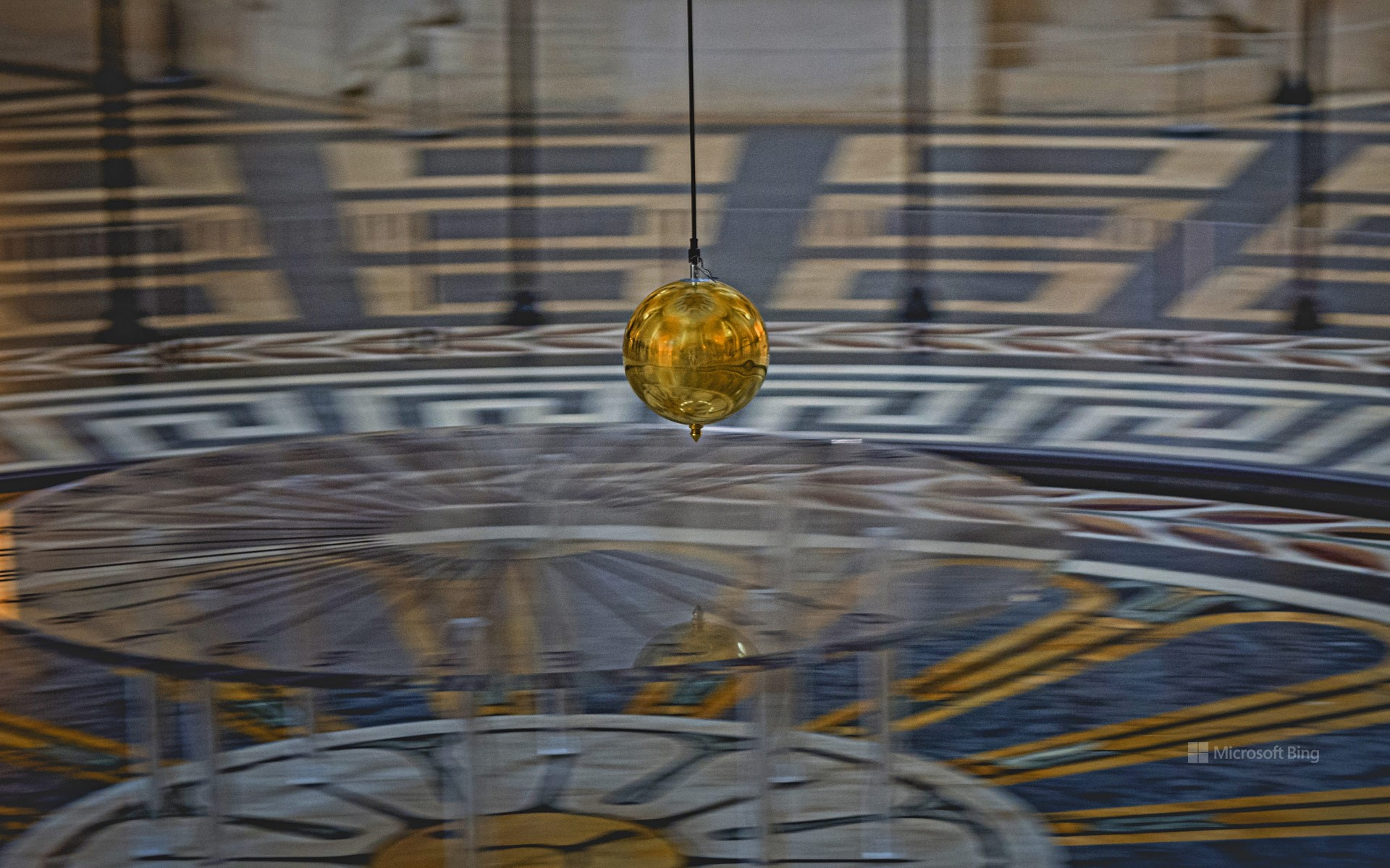 Foucault pendulum at the Panthéon in Paris, France