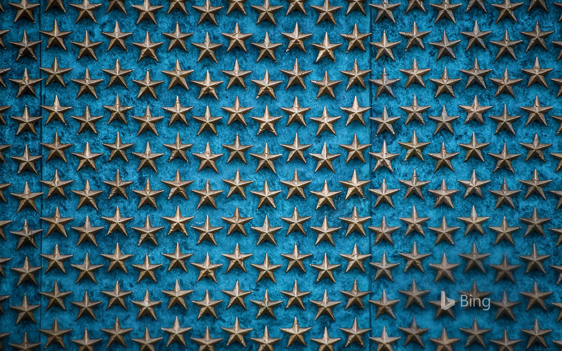 The Freedom Wall at the World War II Memorial in Washington, DC