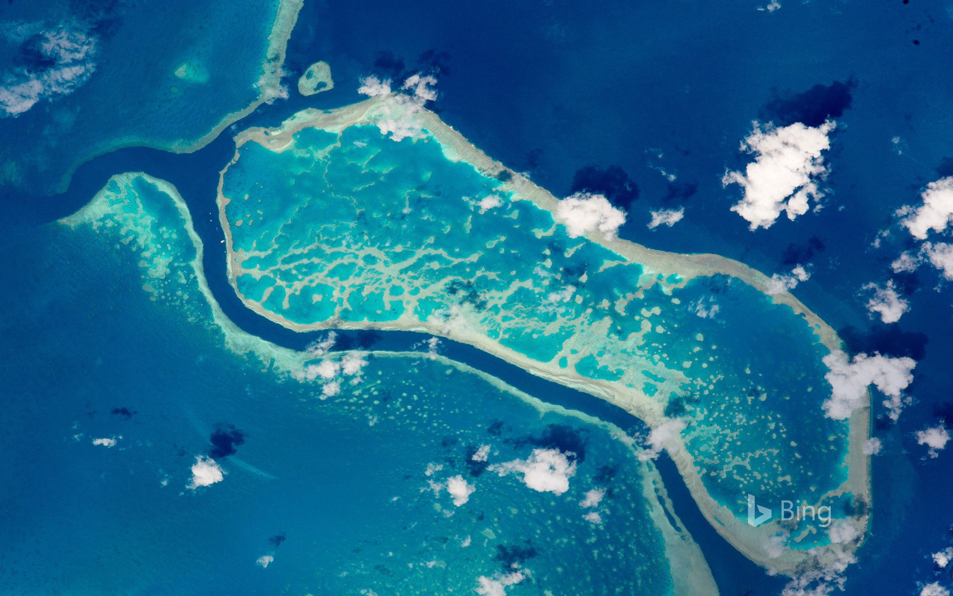 The Great Barrier Reef photographed from the International Space Station