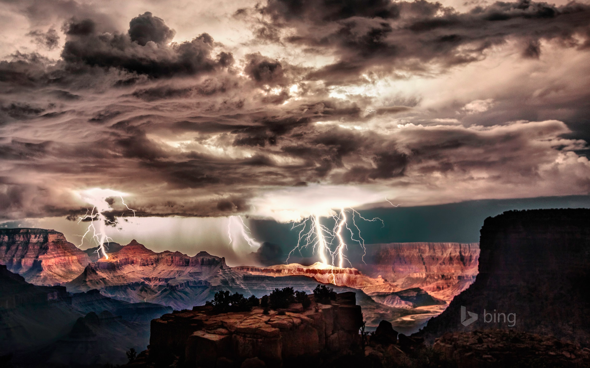 lightning storm over grand canyon national park arizona scott rh sonurai com Storm Wallpaper Lightning Desktop