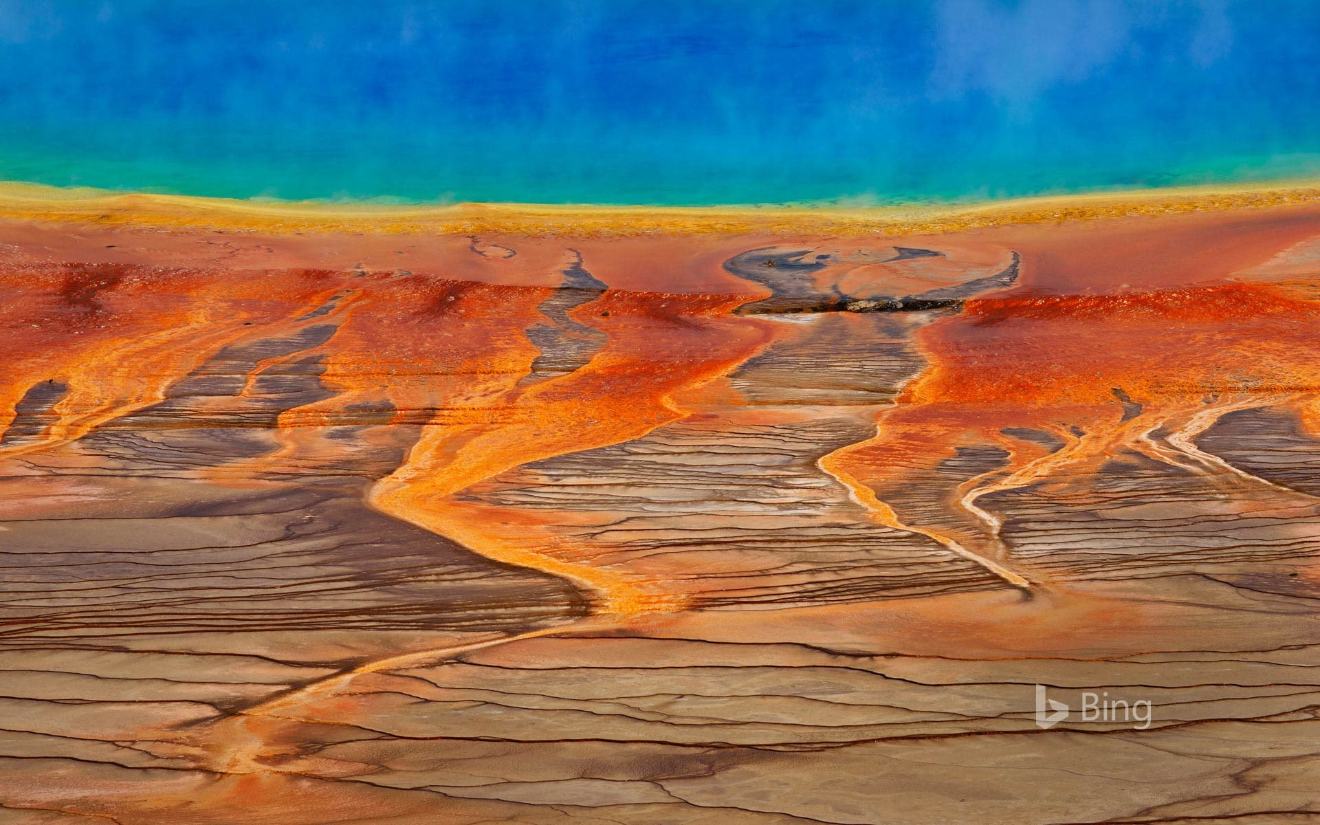 The Grand Prismatic Spring in Yellowstone National Park, Wyoming