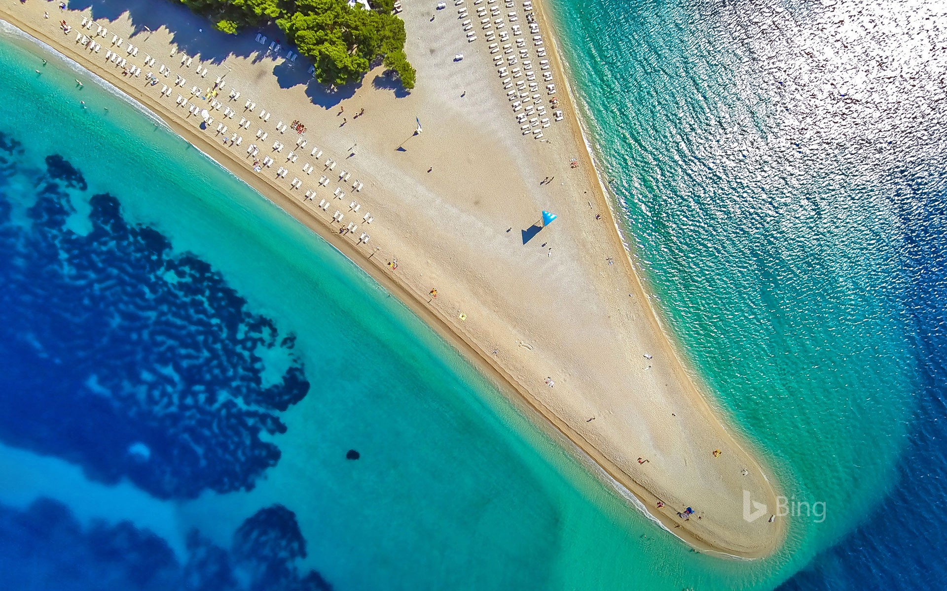 Zlatni Rat on Brač island, Croatia